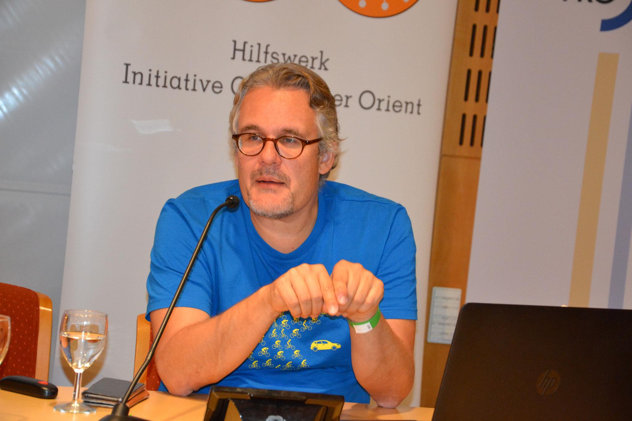 Der Politikwissenschaftler und Kulturanthropologe Thomas Schmidinger berichtete über Syrien und die Situation der Chriosten im Land.