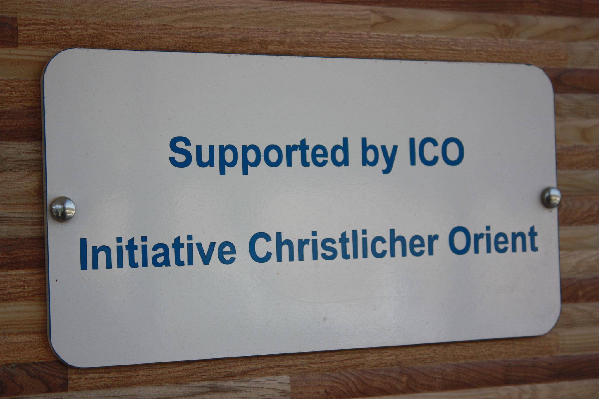 Gedenktafel für ICO-Unterstützungen