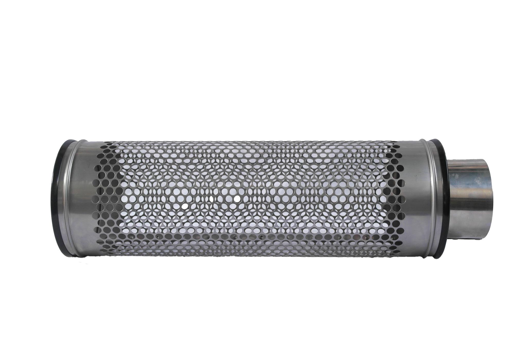Siebrohr für 110 KG Rohr (DN 100) Reduziert von 200er Siebrohr einseitig verschlossen