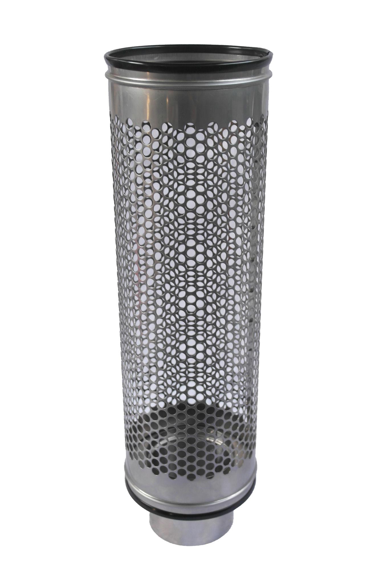 Siebrohr für 110 KG Rohr Reduziert von 200er Siebrohr einseitig verschlossen