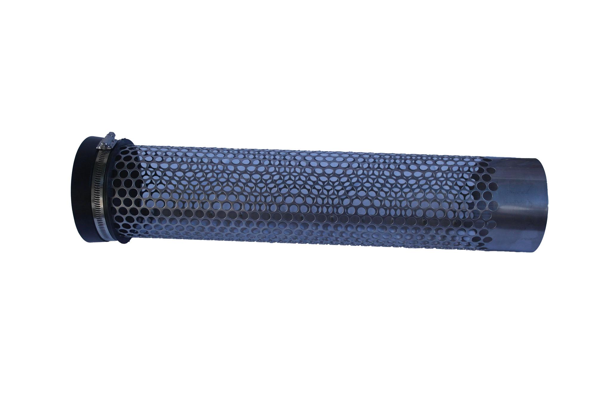 Siebrohr mit Endkappe für 110er KG Rohr (DN 100)