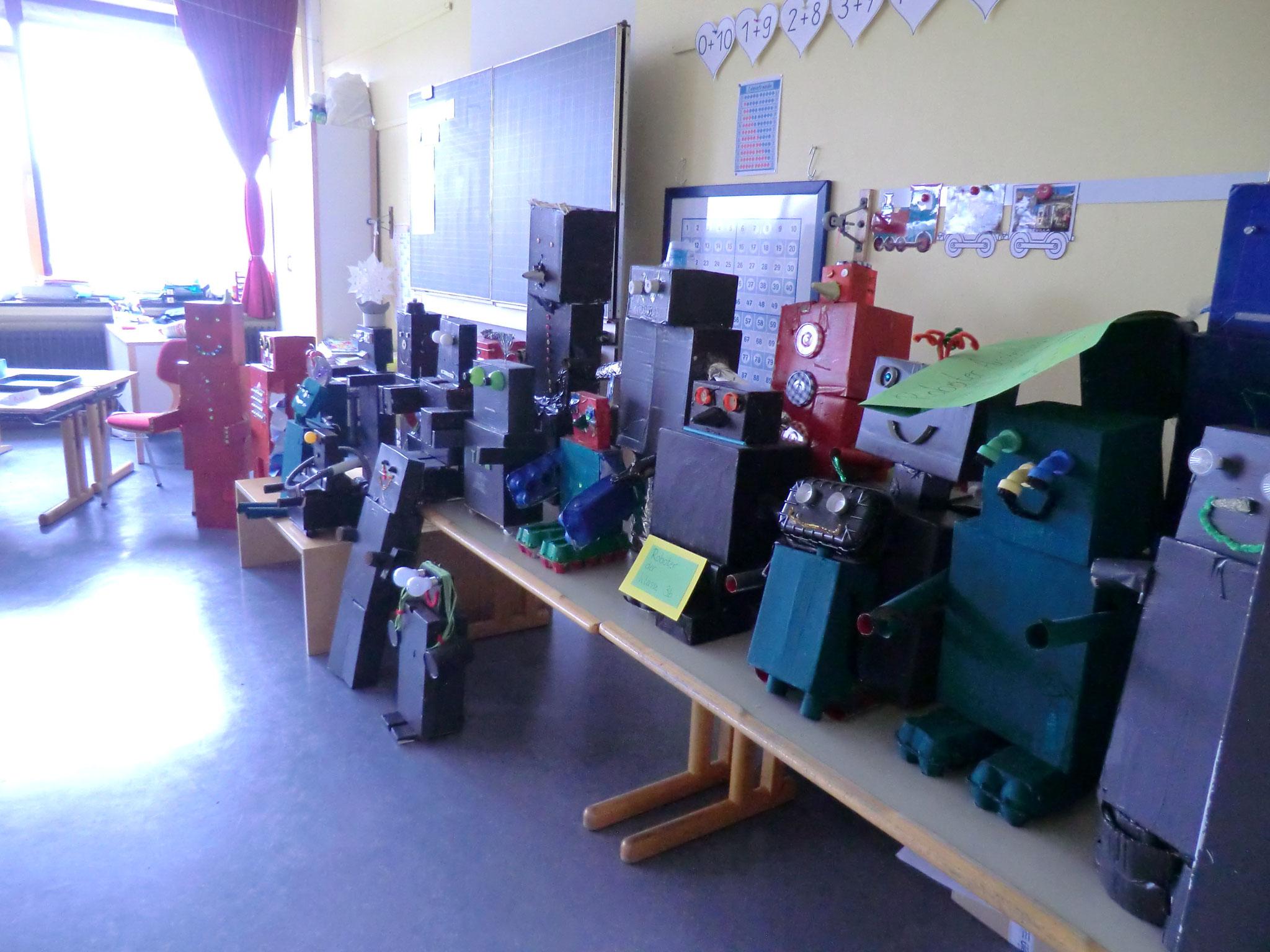Roboterausstellung der Klasse 3b