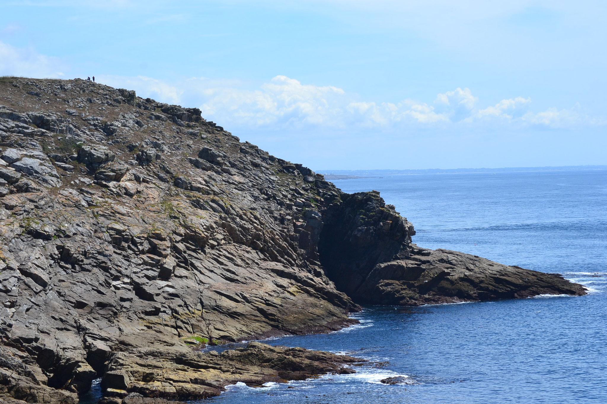 la falaise où EDF envisageait une centrale nucléaire dans les années 70