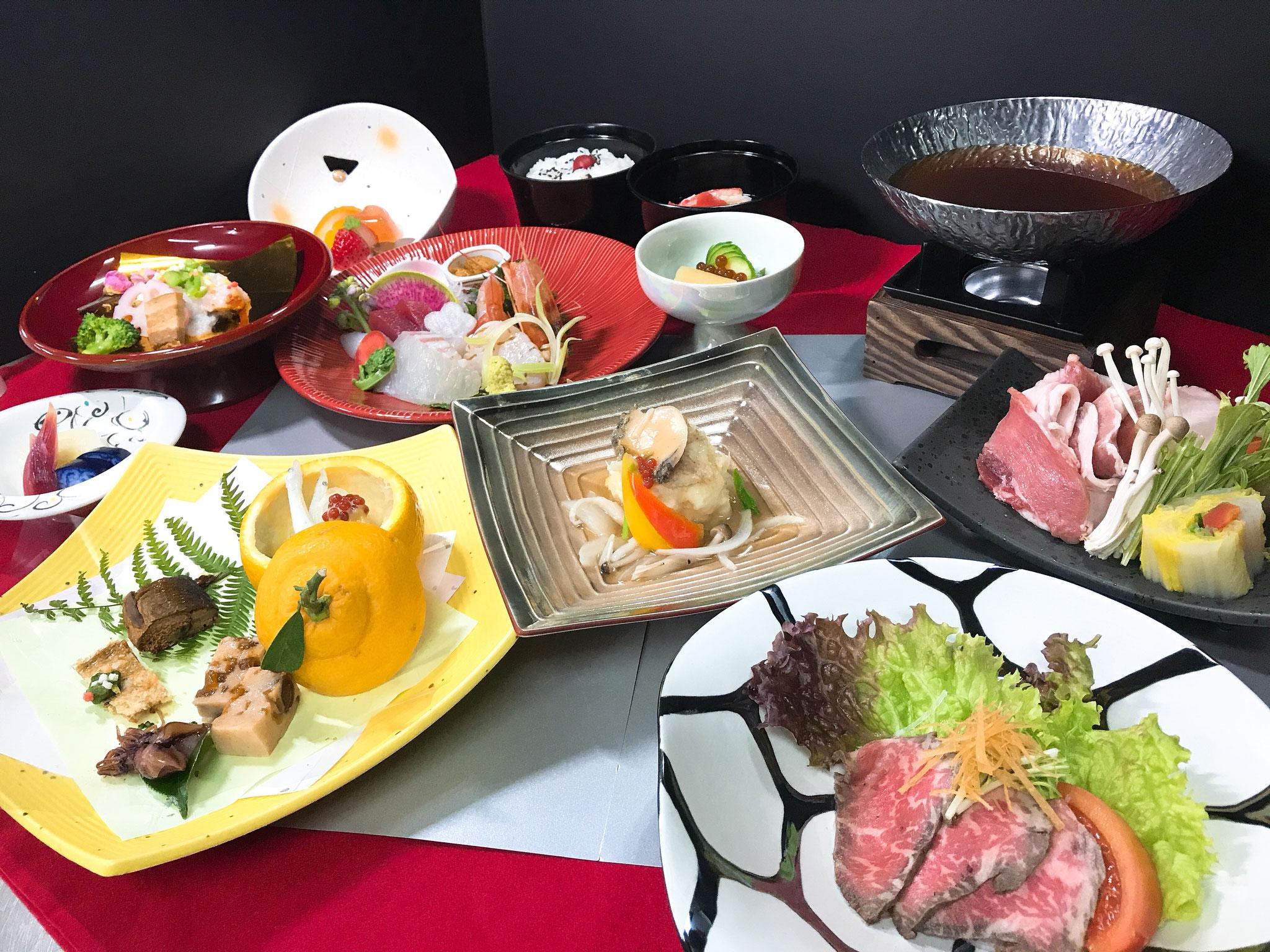 会席料理 菜の花 8000円