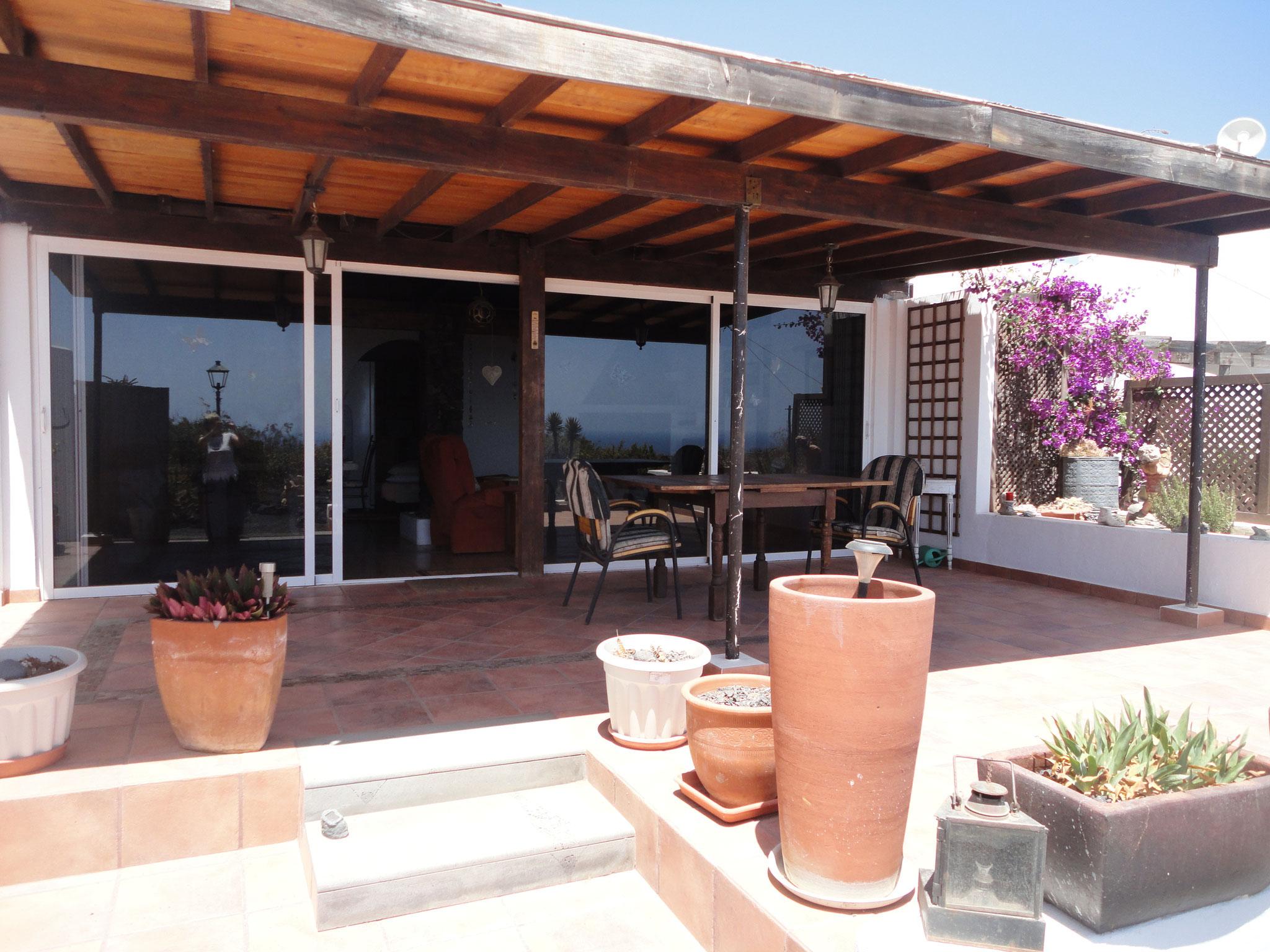 Large south facing sun terrace