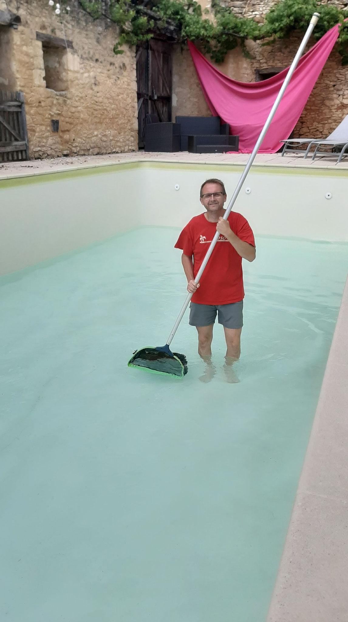 Vidange de la piscine