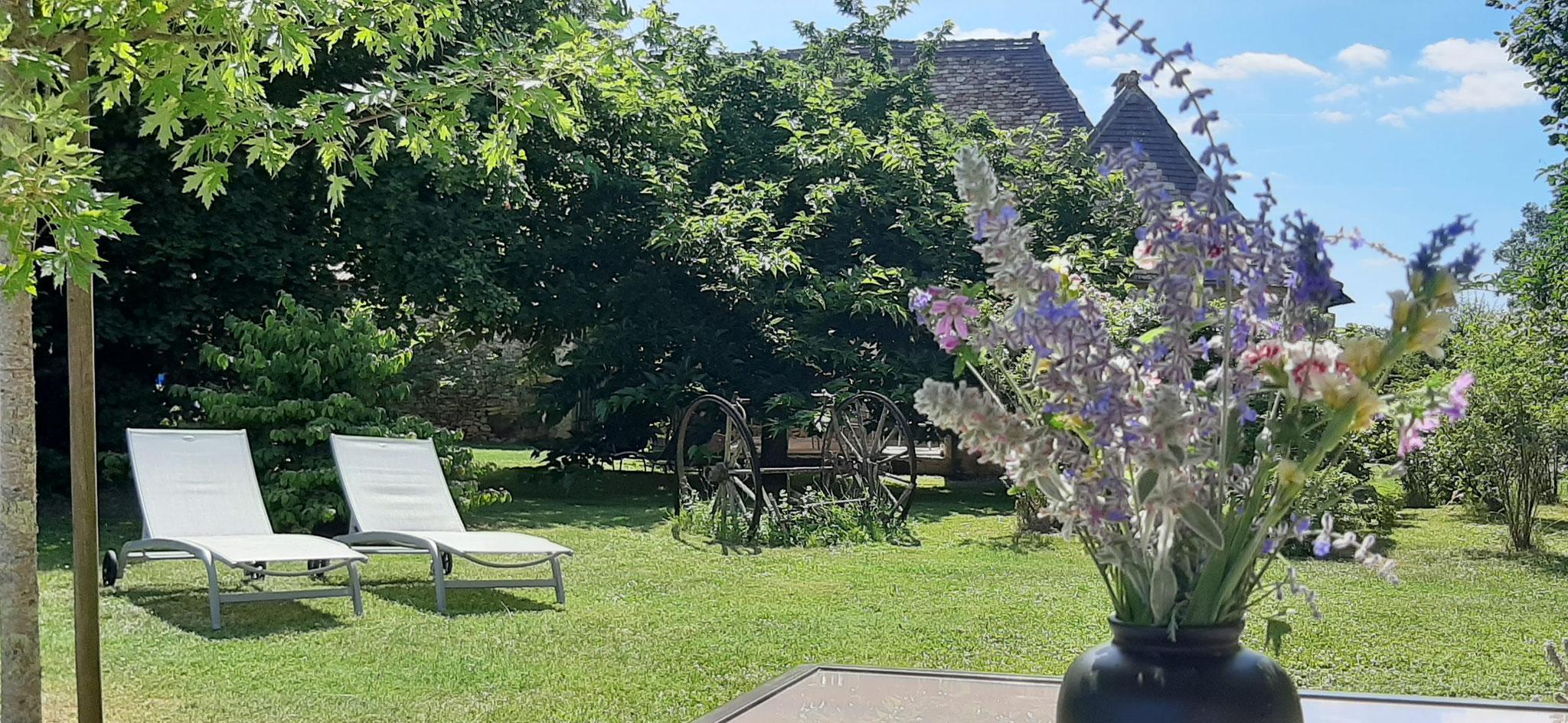 Le jardin de notre Maison Lascaux
