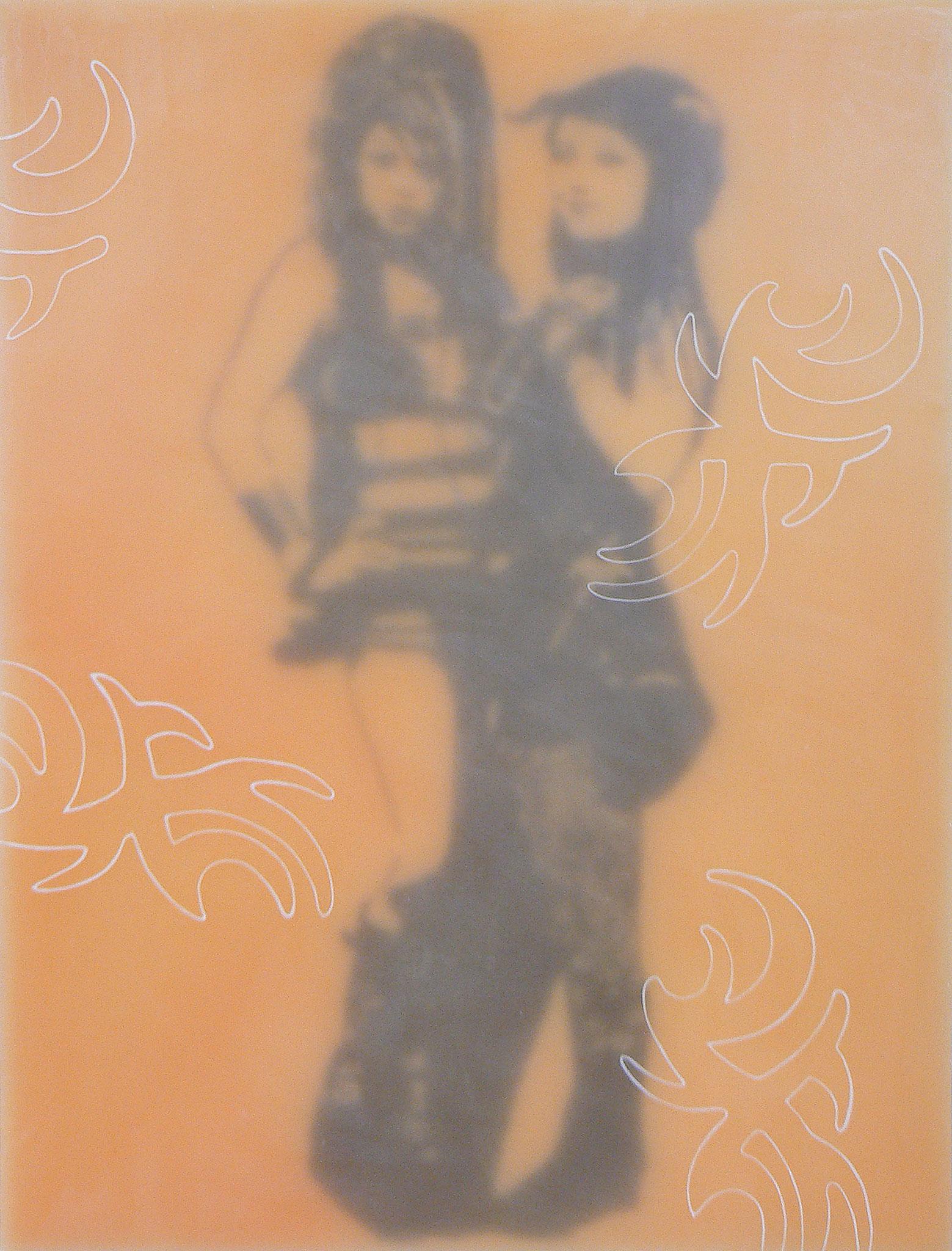 Gothik-Engel 4, 2009, Paraffin auf Leinwand/Holz, 60 x 80 cm