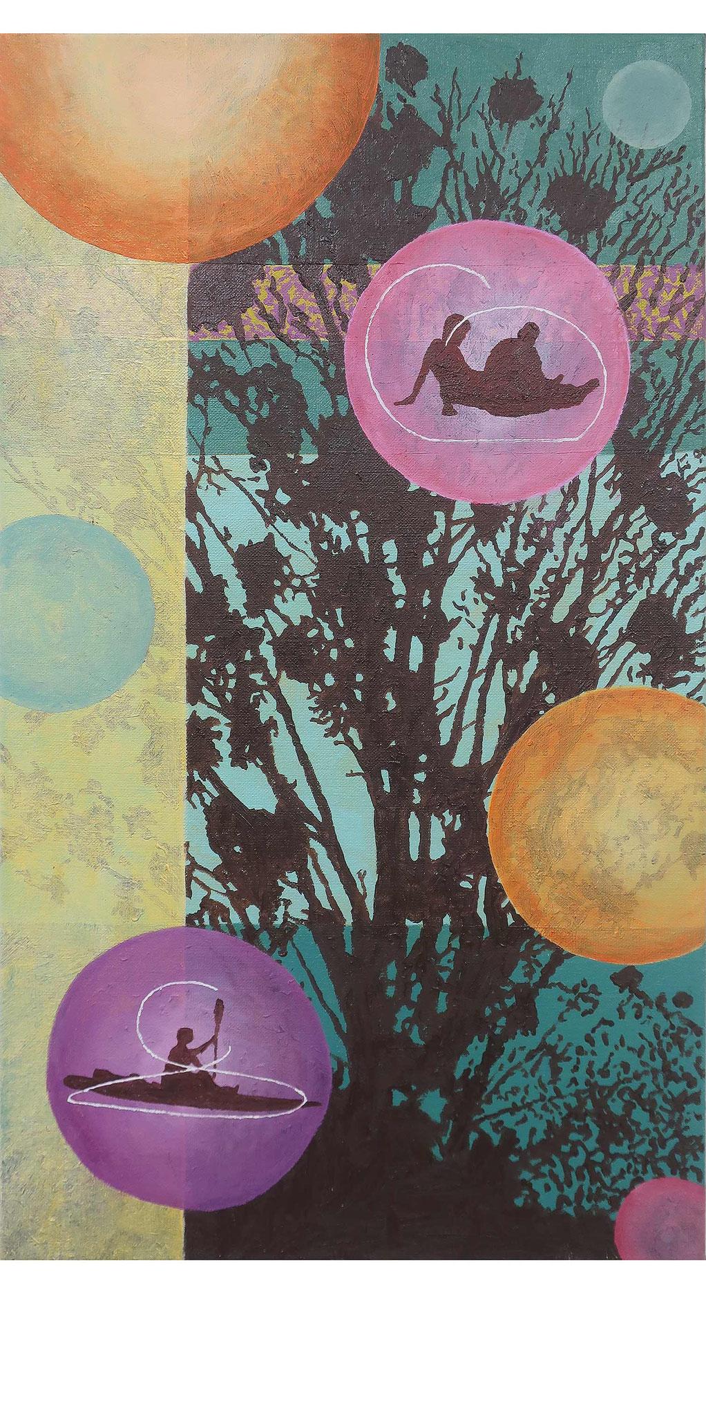 Inner Circle 3, 70x40 cm, Öl auf Leinwand, 2020