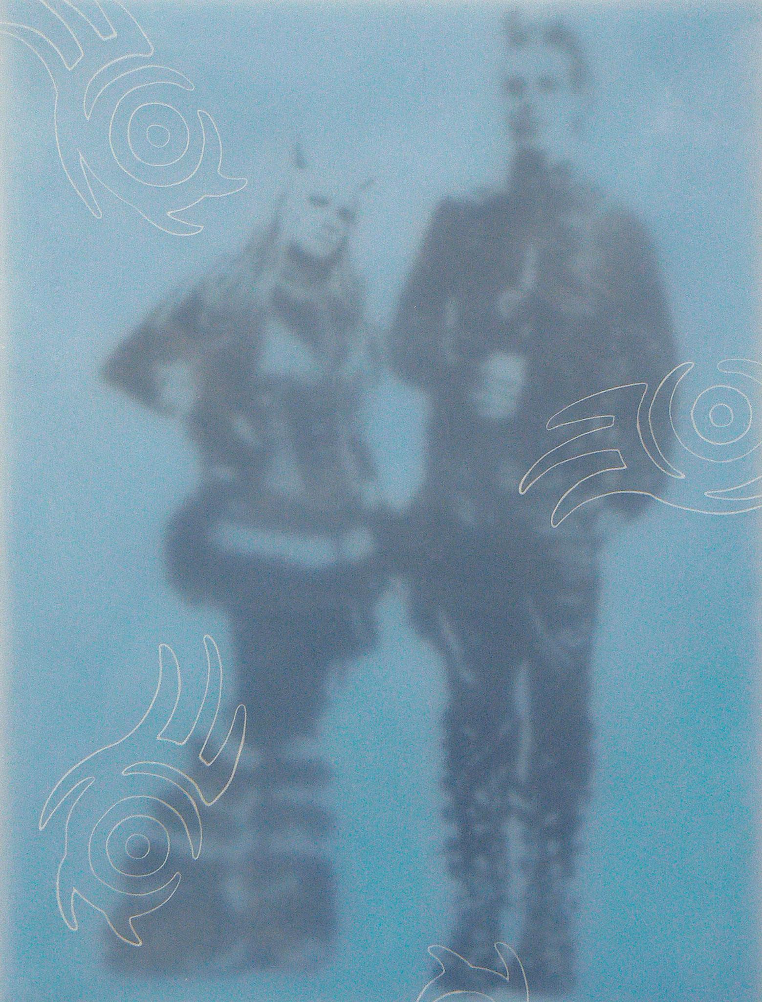 Gothik-Engel 5, 2009, Paraffin auf Leinwand/Holz, 60 x 80 cm