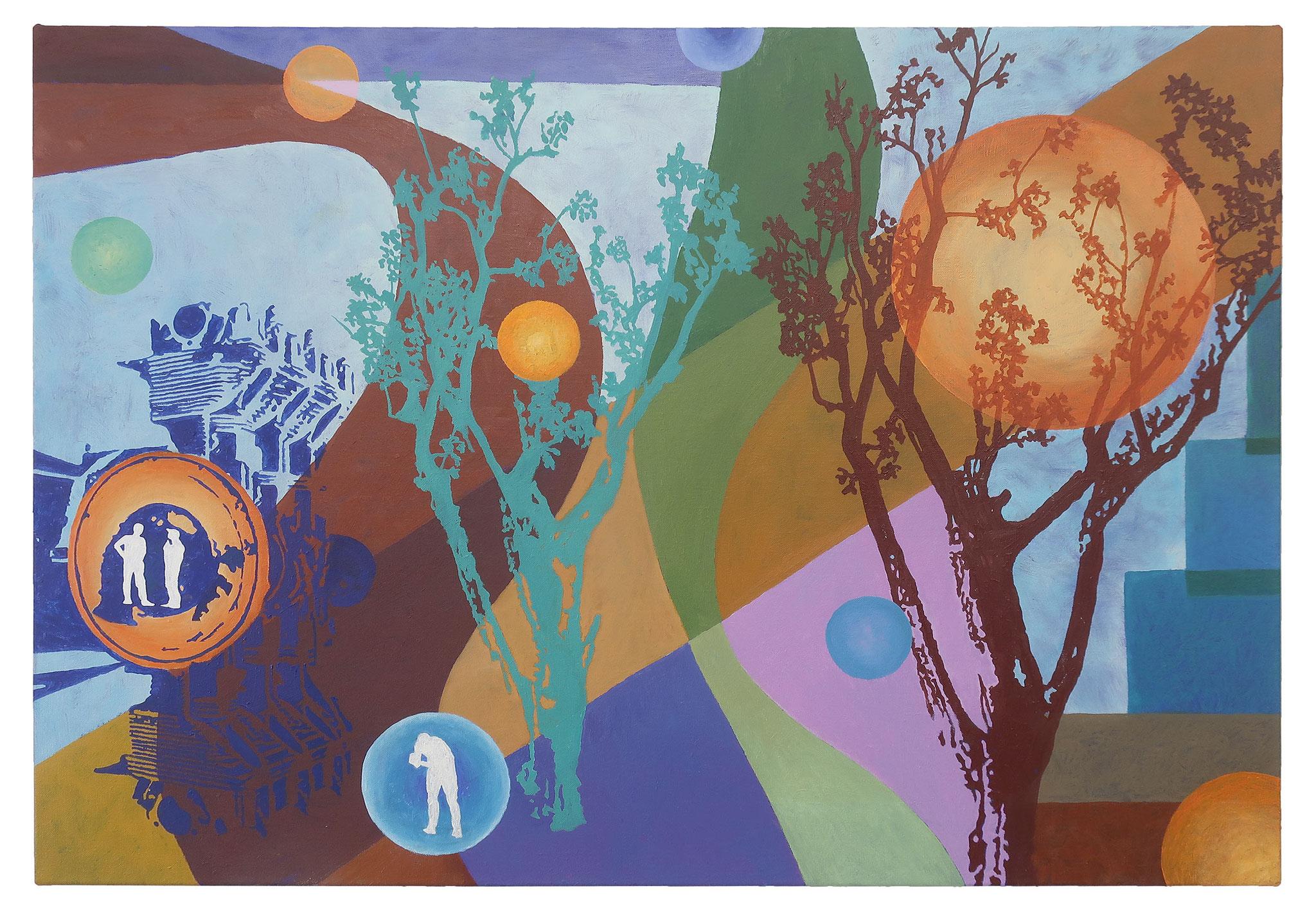 Inner Circle 6, 85x130 cm, Öl auf Leinwand, 2020