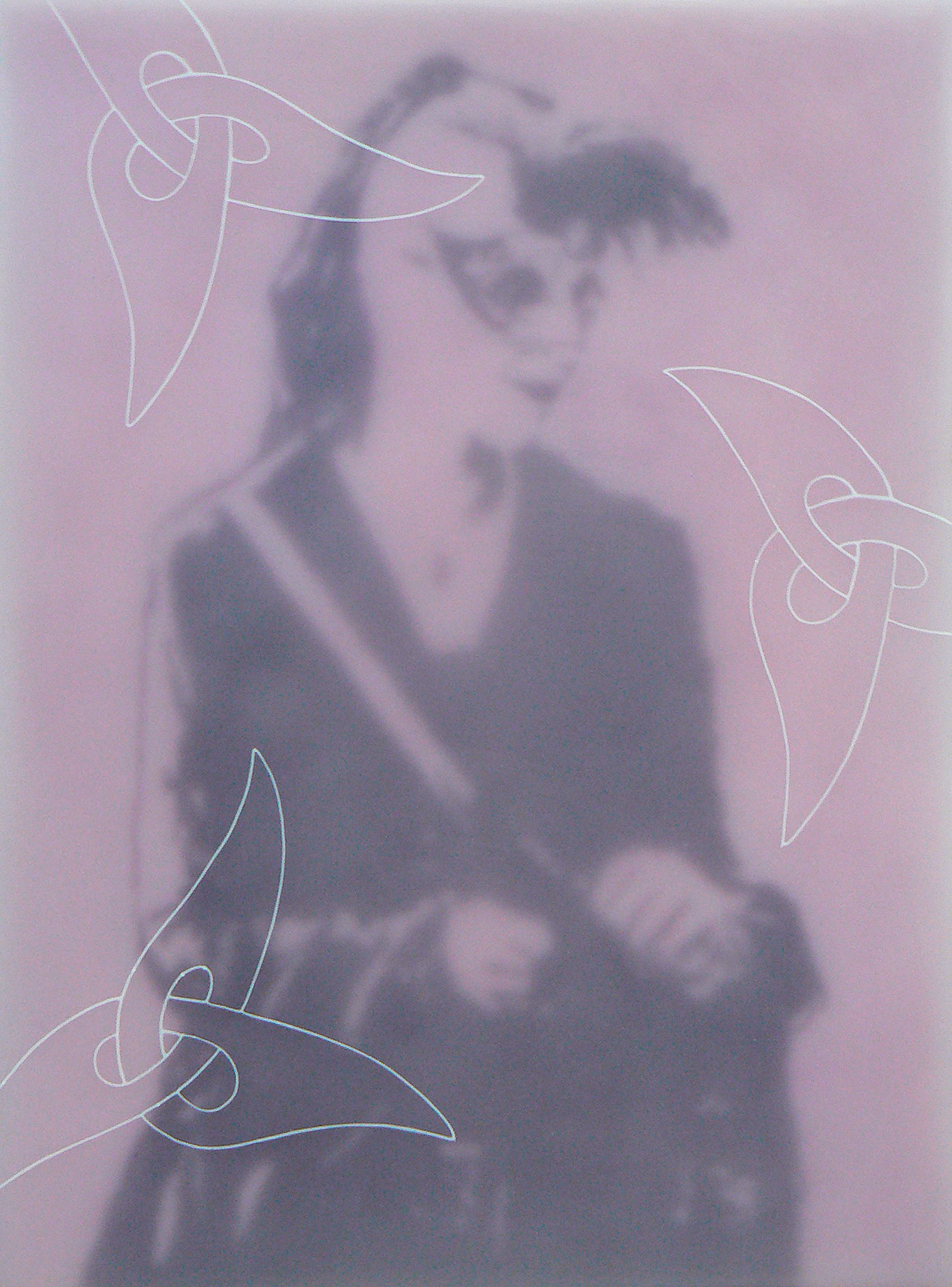 Gothik-Engel 6, 2009, Paraffin auf Leinwand/Holz, 60 x 80 cm