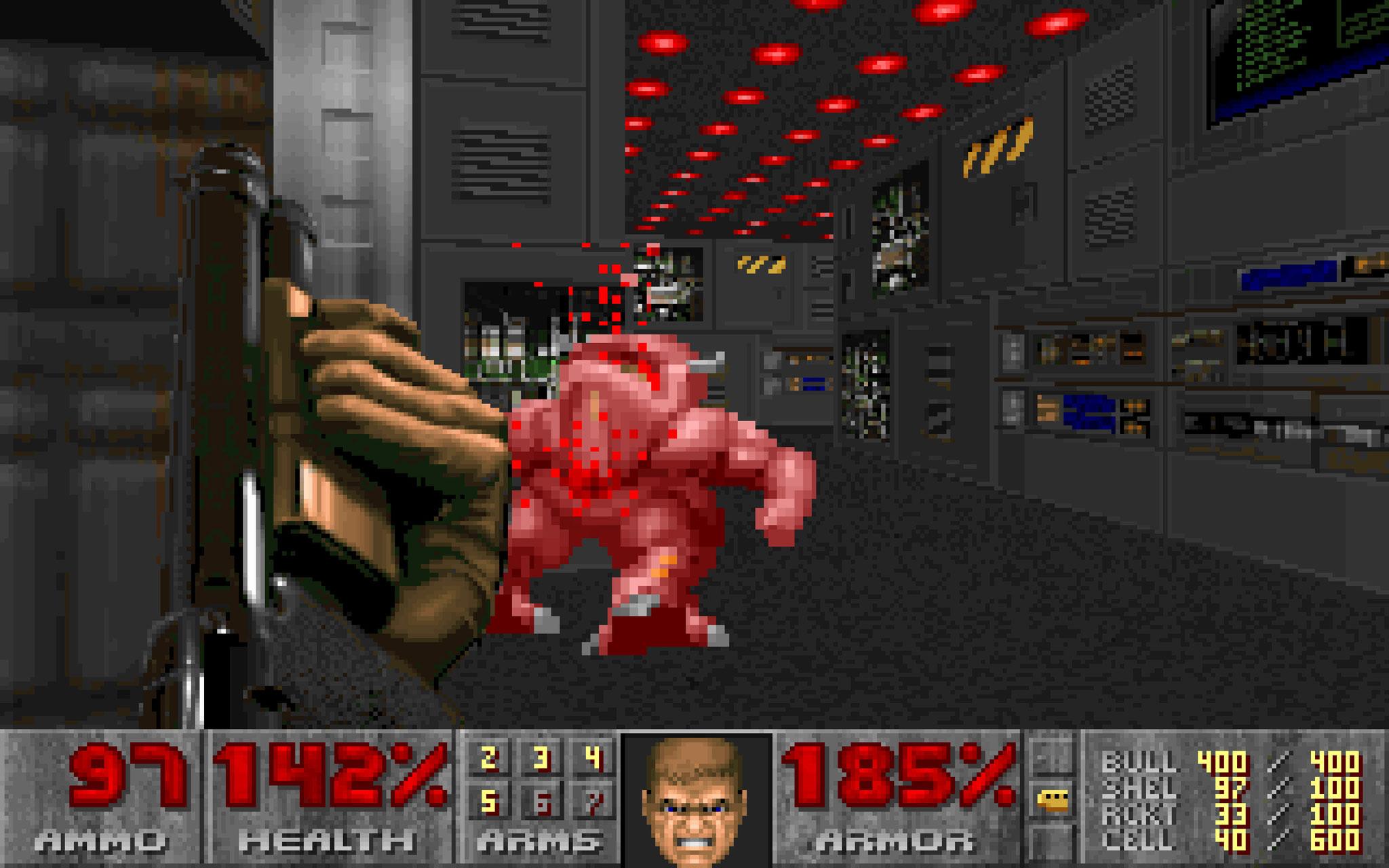 """Hat 1993 das Action-Genre revolutioniert und den modernen Ego-Shooter ins Leben gerufen: """"DOOM"""". Der Baller-Meilenstein wurde von den id-Gründern John Carmack (heute Oculus VR), John Romero und Tom Hall programmiert."""