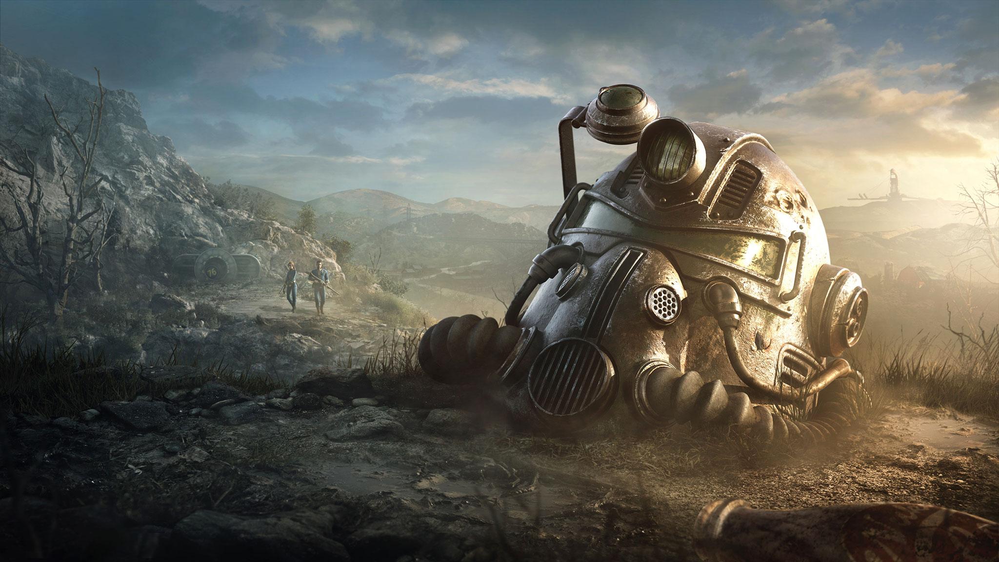 """In """"Fallout 76"""" ziehen Spieler gemeinsam oder gegeneinander durch ein von nuklearem Feuer erschaffenes Ödland. Die Landschaft..."""