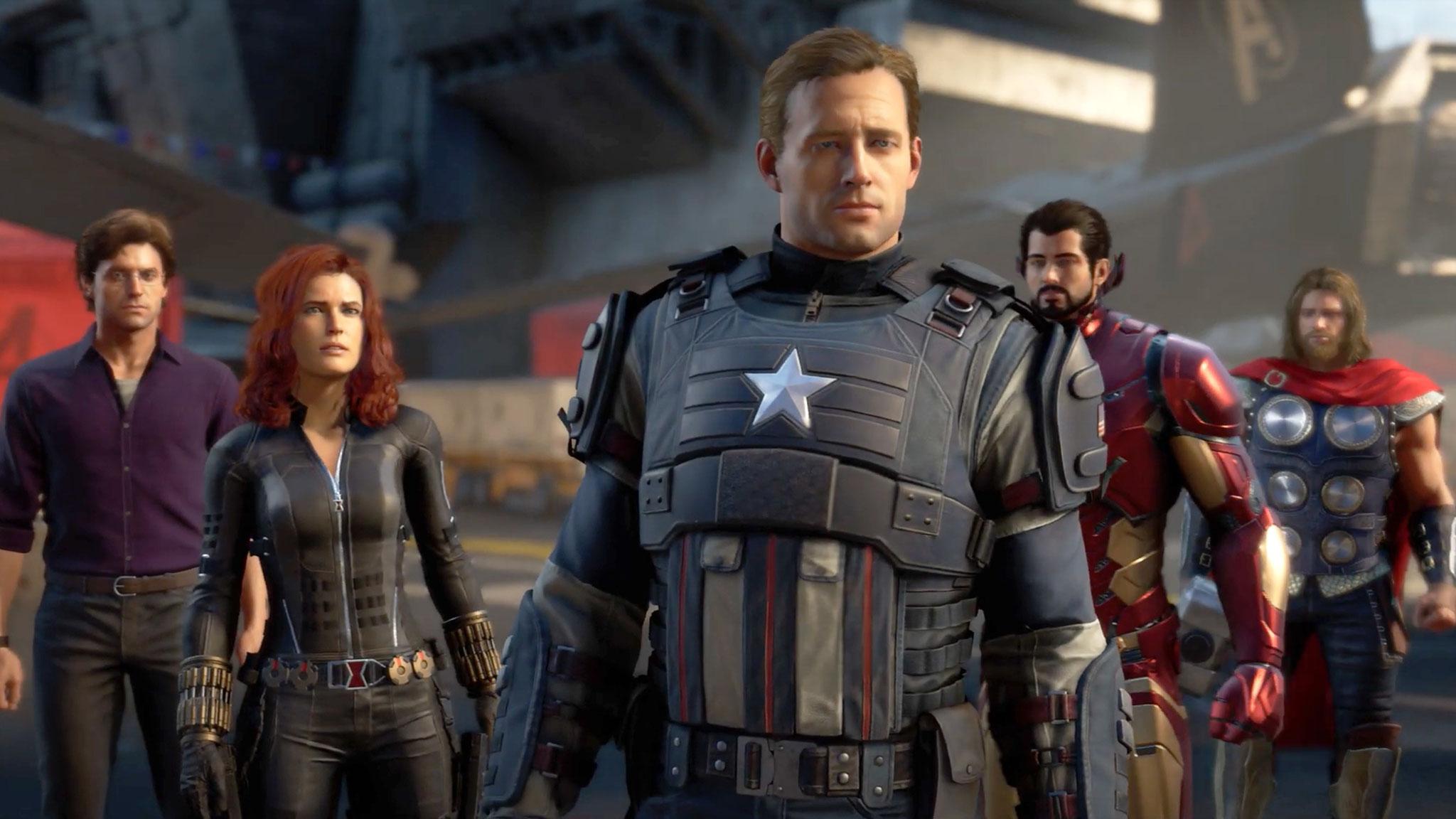 Bekannte Marke, aber unbekannte Gesichter: Die Avengers aus Square Enix' Videospiel sehen anders aus als im Kino.