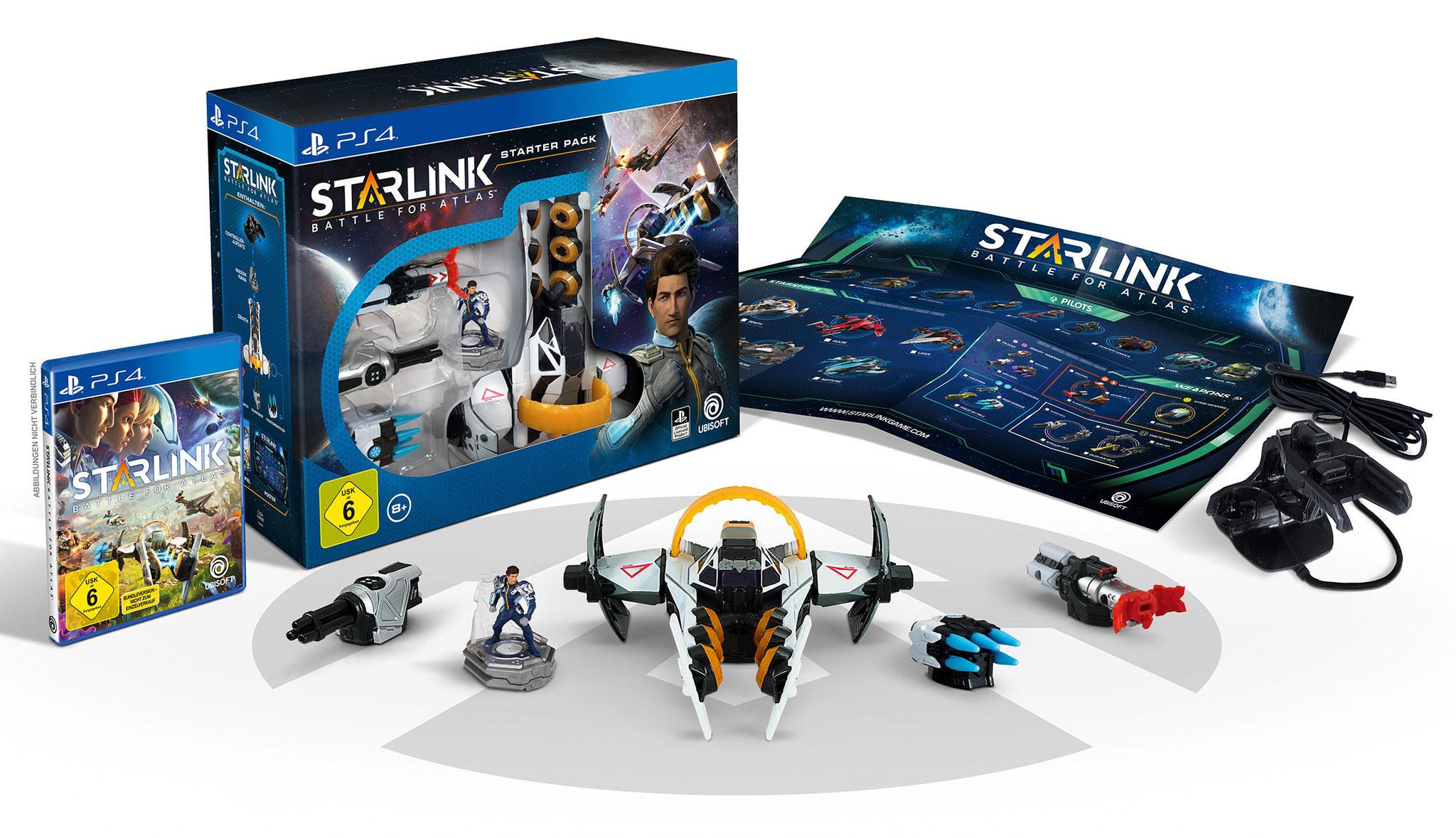 """Spiel- und Spielzeug-Paket wie bei den """"Skylanders"""": Das """"Starlink""""-Starter-Paket kostet um die 70 Euro, neue Raumschiffe mit Figur und je einer Waffe gibt's für ca. 30 Euro"""