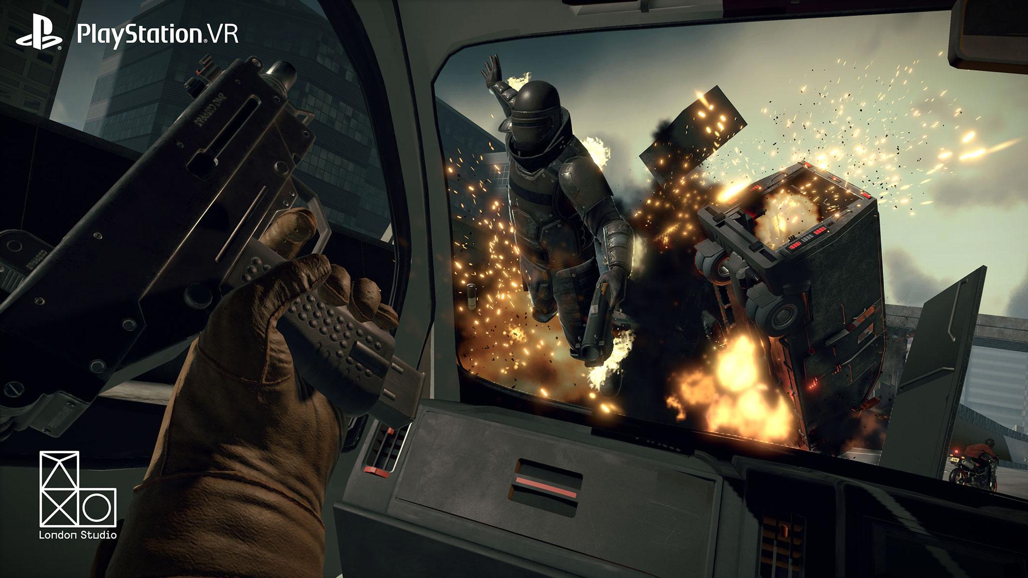 """Mehr Funktions- und Stimmungs-Demo als Spiel, aber dafür umso verheißungsvoller: """"The Heist"""" aus """"PlayStation VR Worlds"""" zeigt, wie großes Kino auf dem Headset aussehen kann"""