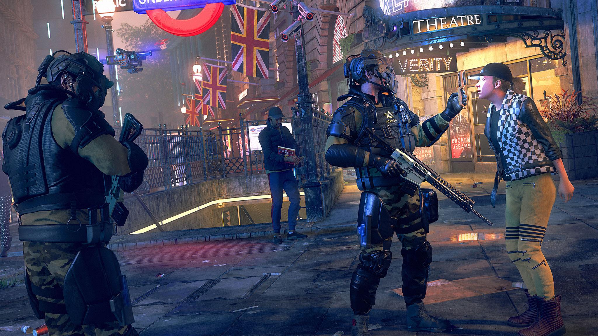 """Sollten Ubisofts """"Watch Dogs Legion""""-Entwickler Recht behalten, verwandelt sich Großbritannien nach dem Brexit in eine Diktatur."""