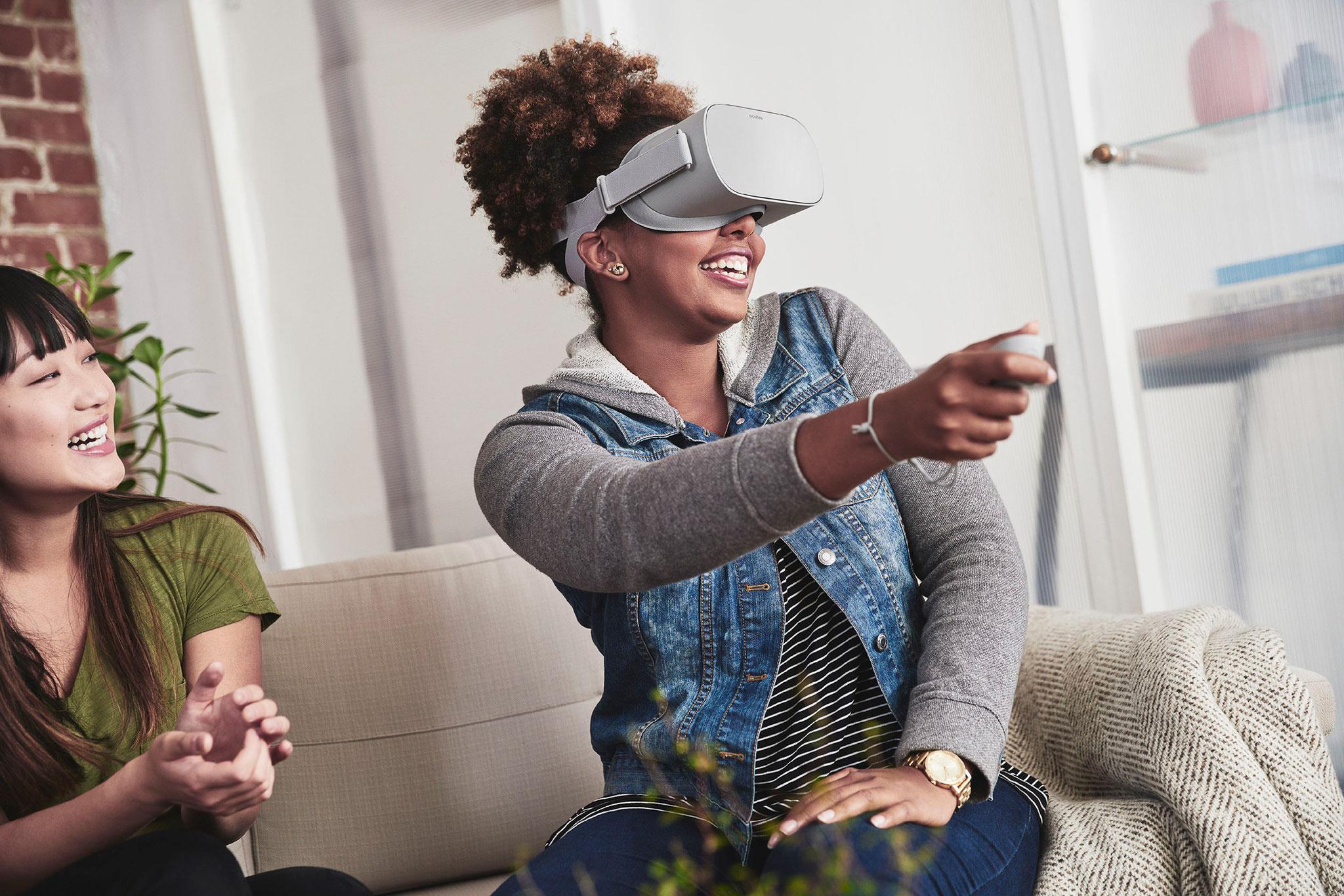"""Deutlich günstiger als die """"Quest"""", aber dafür auch weniger leistungsfähig und für passionierte Gamer nur bedingt zu empfehlen: die ebenfalls mobile """"Oculus Go""""."""