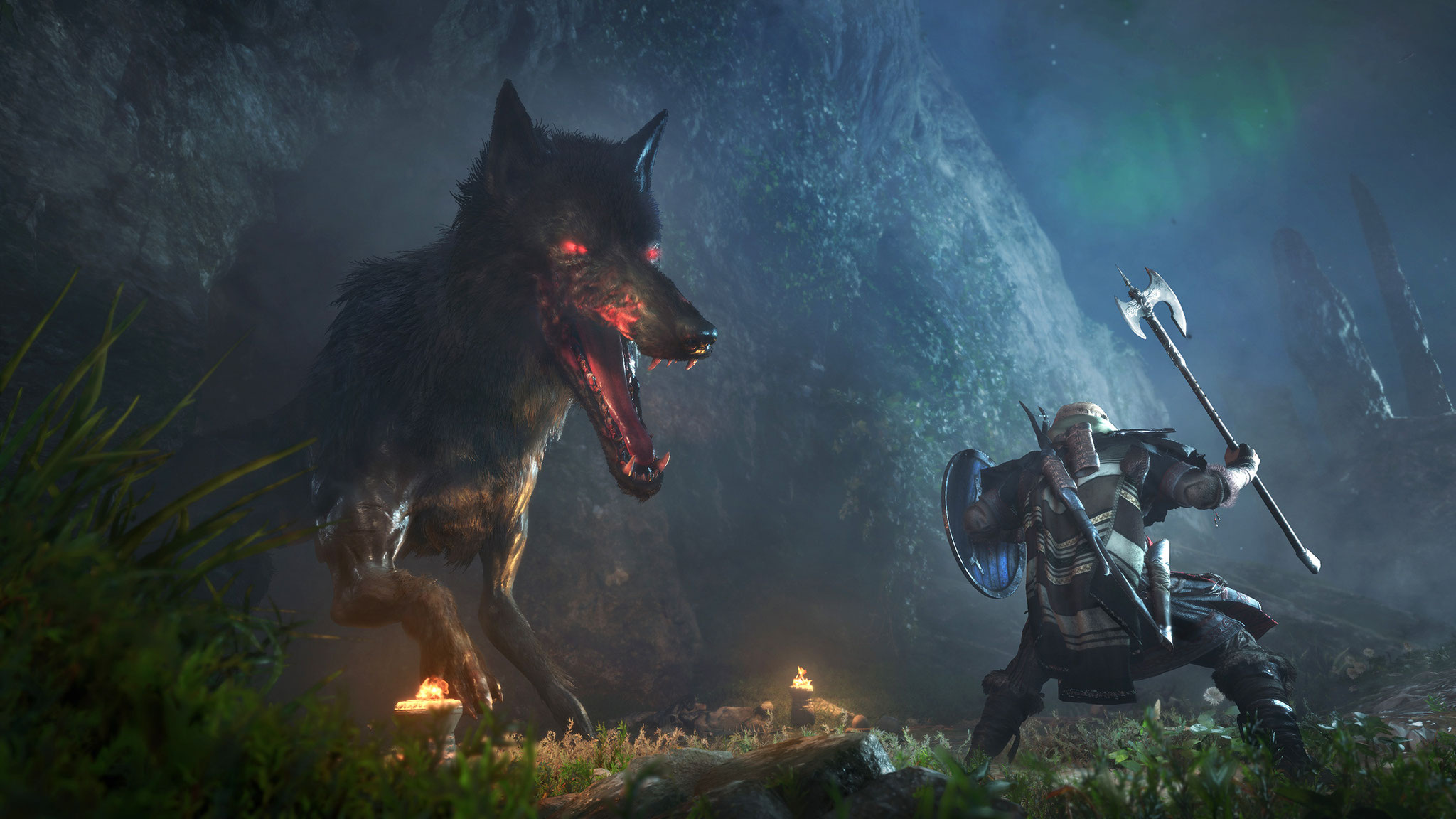 Eivors persönliche Nemesis begleitet ihn bis in ihre übersinnlichen Visionen und Träume: ein Wolf.