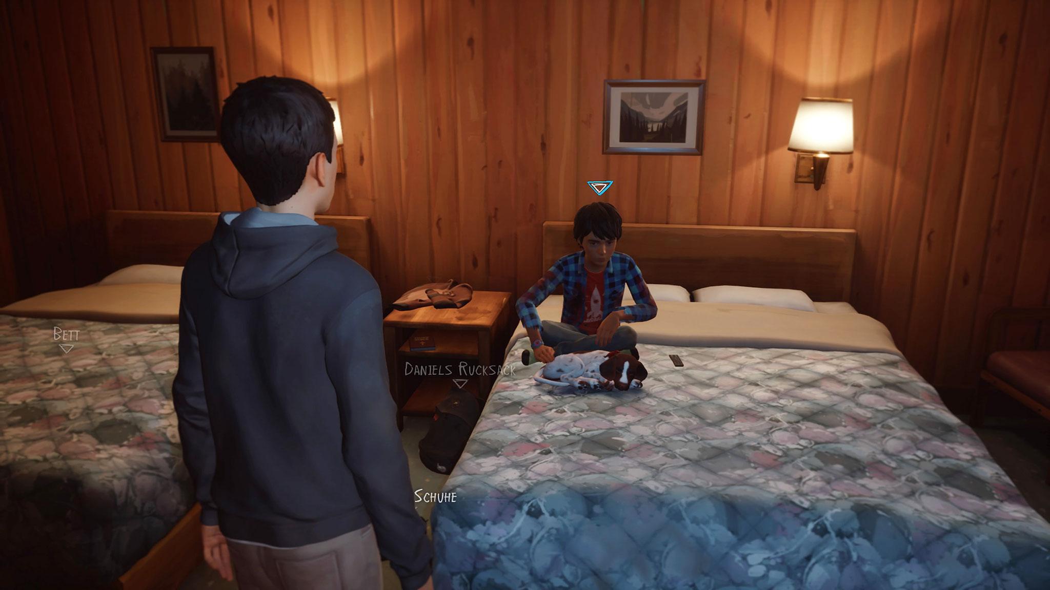 Genießt nach tagelangem Aufenthalt unter freiem Himmel das Bett und Kabelfernsehen in einem Motel: Seans jüngerer Bruder Daniel.