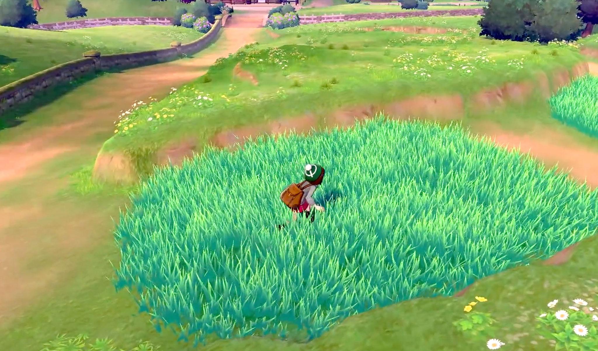 Von einigen Spielelementen mag sich die Serie auch hier nicht trennen: Wie gewohnt sucht der Trainer im hohen Gras nach neuen Pokémon.