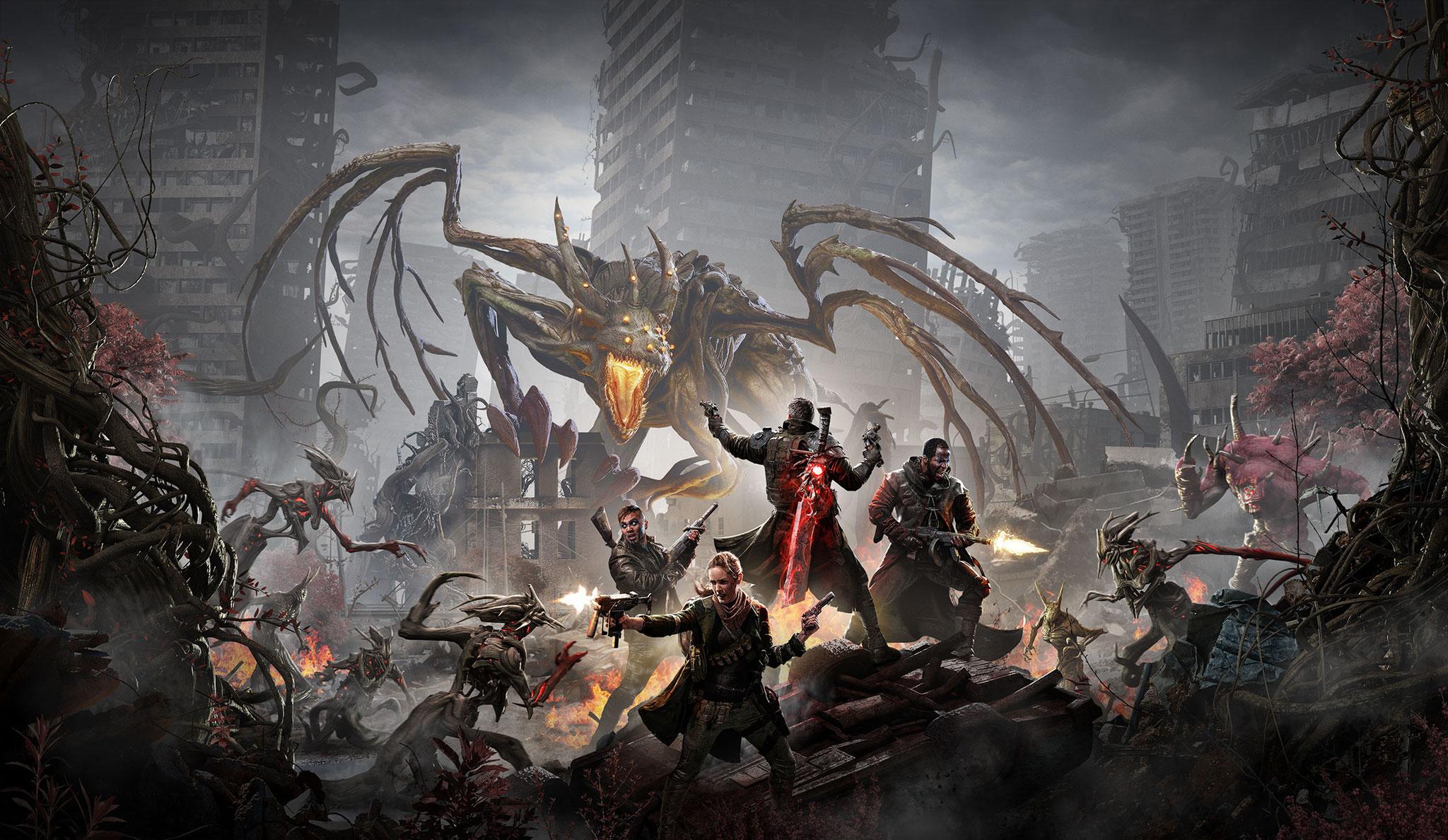 """""""Remnant: From the Ashes"""" spielt in einer finsteren Zukunft, in der die Welt von mythischen Bestien aus anderen Dimensionen überrannt wird."""