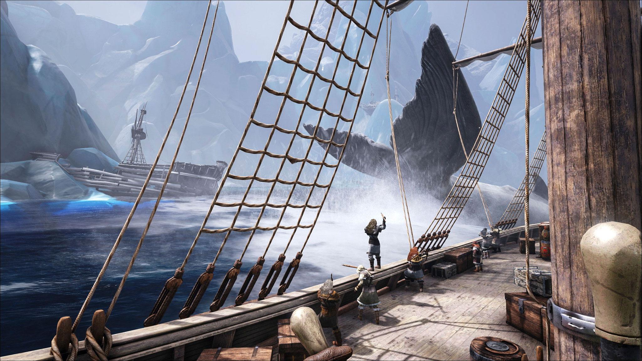 """Anders als in """"Sea of Thieves"""" bietet """"Atlas"""" für bis zu 40.000 Spieler gleichzeitig eine ganze Welt zum Erkunden. Leider führen Größe und Offenheit des Spiels gerade zu erheblichen Schwierigkeiten."""