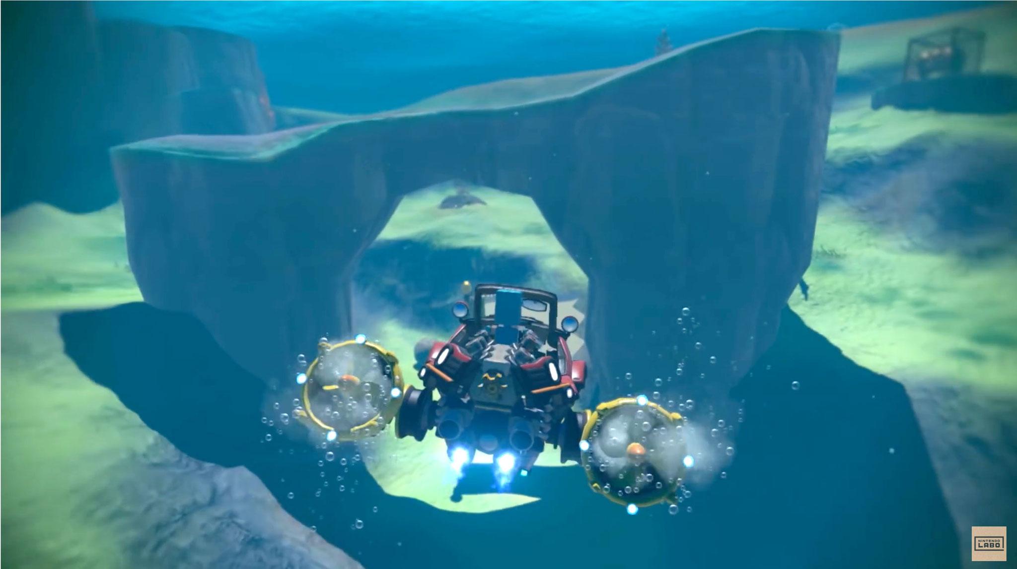 ... oder unter Wasser manövriert. Einem ersten Video zufolge scheint sogar ein Zweispieler-Modus vorgesehen zu sein.
