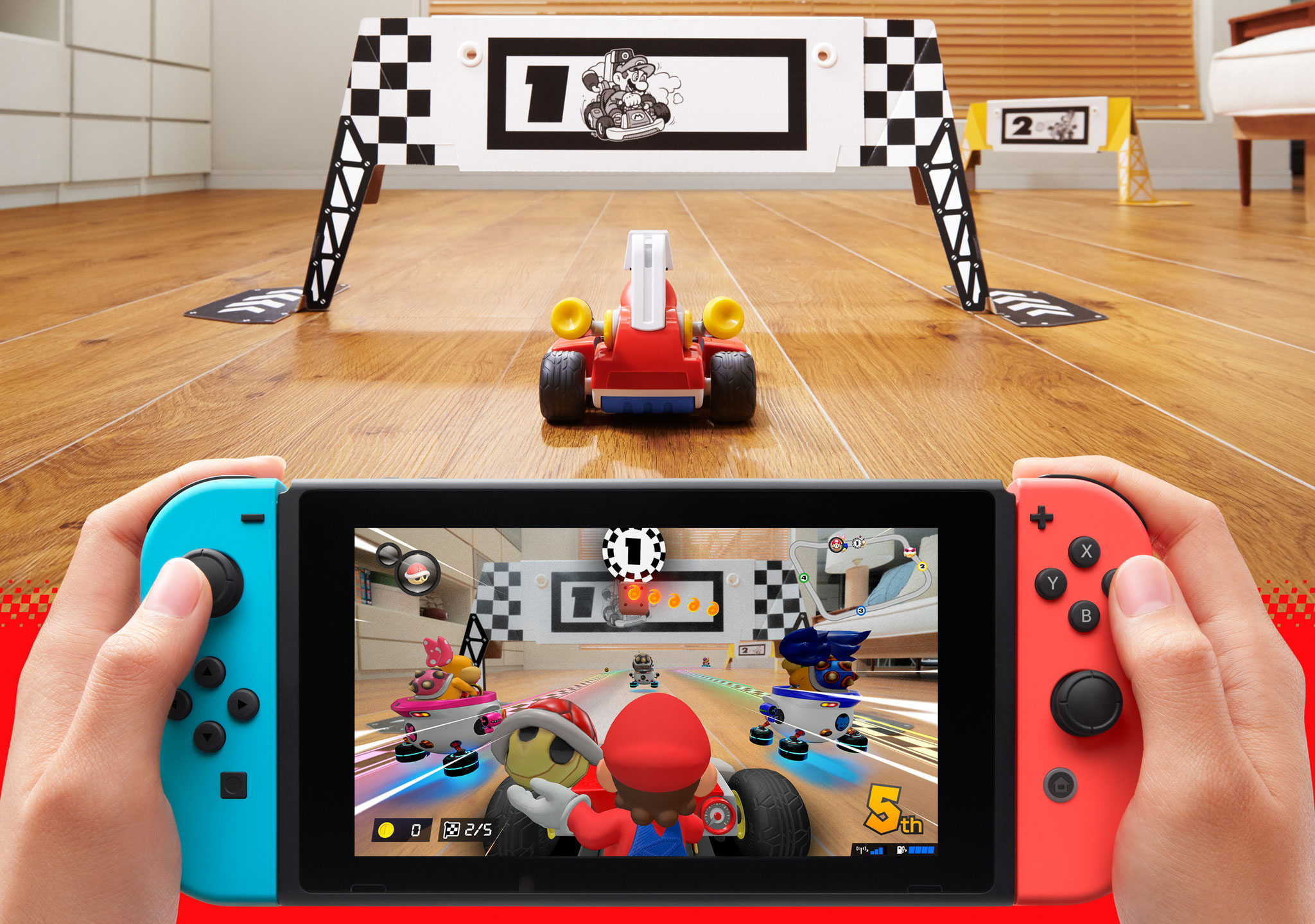 """So macht """"Mario Kart Live"""" am meisten Spaß: im Handheld-Modus"""