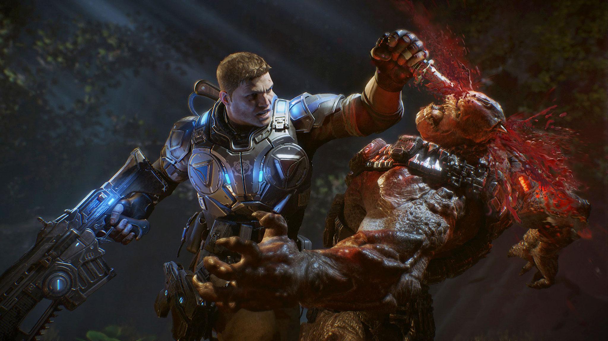 """In der überfälligen 4. Fortsetzung der Xbox-Action-Saga """"Gears of War"""" wird die Heldenkrone an Marcus Fenix' Sohn und seine Partner weitergereicht.  (11.10. für PC, XBO)"""