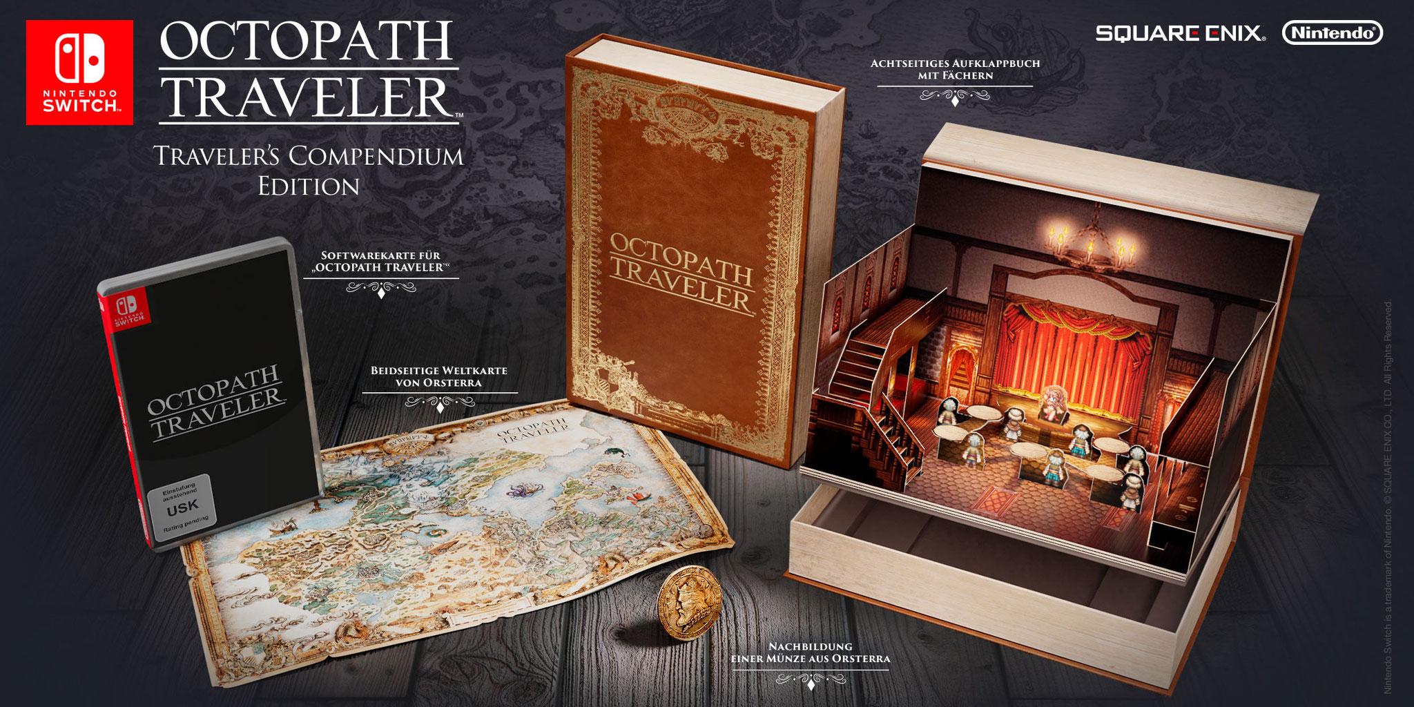 """Erscheint am 13. Juli und kommt sogar als luxuriös ausgestattete Sammler-Edition: Square Enix' Retro-Rollenspiel """"Octopath Traveler""""."""