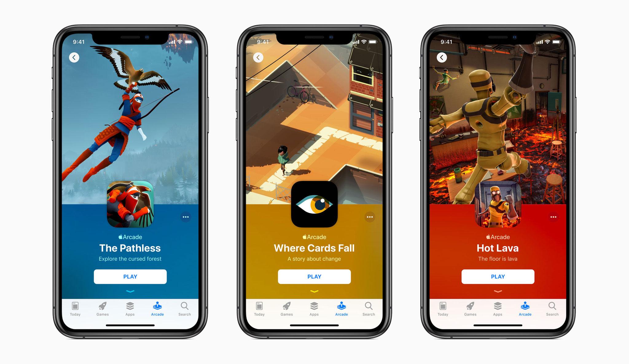 """Gehören ebenso zum """"Apple Arcade""""-Angebot wie bekannte Marken: Indie-Games wie """"The Pathless"""", """"Where Cards Fall"""" oder """"Hot Lava"""". Exklusiv sind diese Titel aber nicht - sie erscheinen auch für PC und Konsolen."""