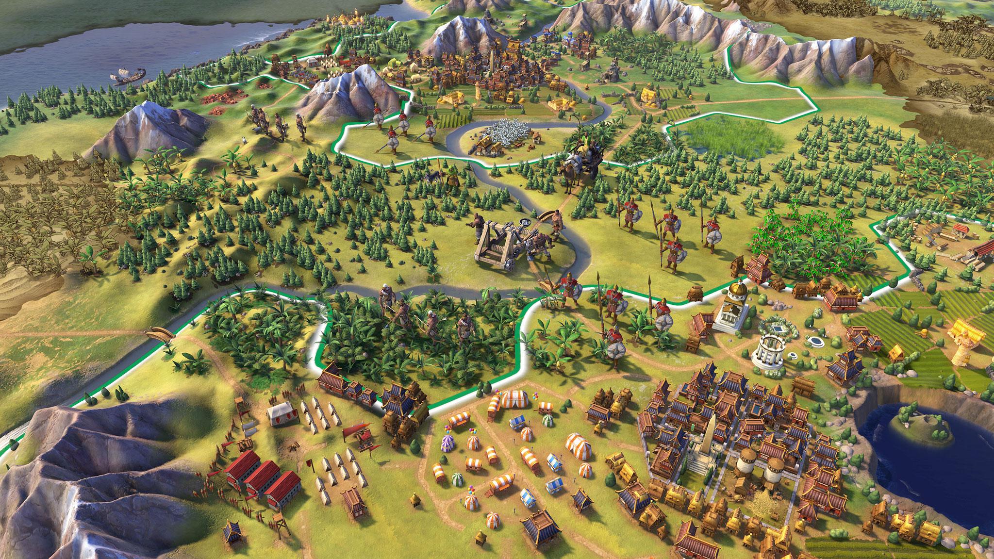 """Bonbon-farbene Comic-Grafik und ein verfeinertes Regelwerk: """"Sid Meier's Civilization 6"""". (21.10. für PC)"""