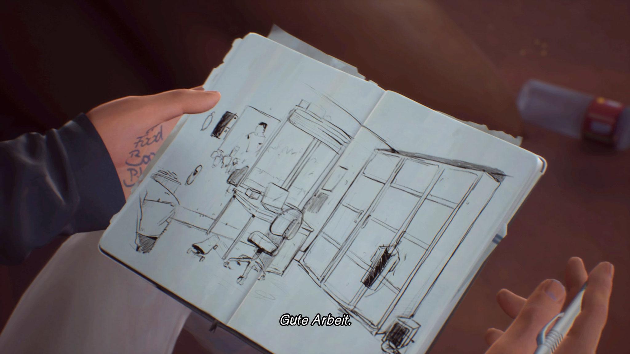 Auch in der zweiten Staffel gibt es wieder einen künstlerischen Bezug: Max war passionierte Fotografin, Sean ist Hobby-Zeichner. Wie im Vorgänger findet sich die Kreativ-Passion in den Menü-Designs des Spiels wieder.