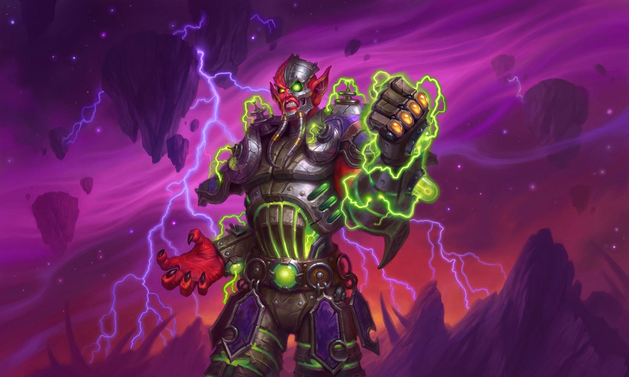 "Auch der Hexenmeister-Held ""Mecha-Jaraxxus"" gehört zu den erschreckenden Errungenschaften des Bumms-Teams."