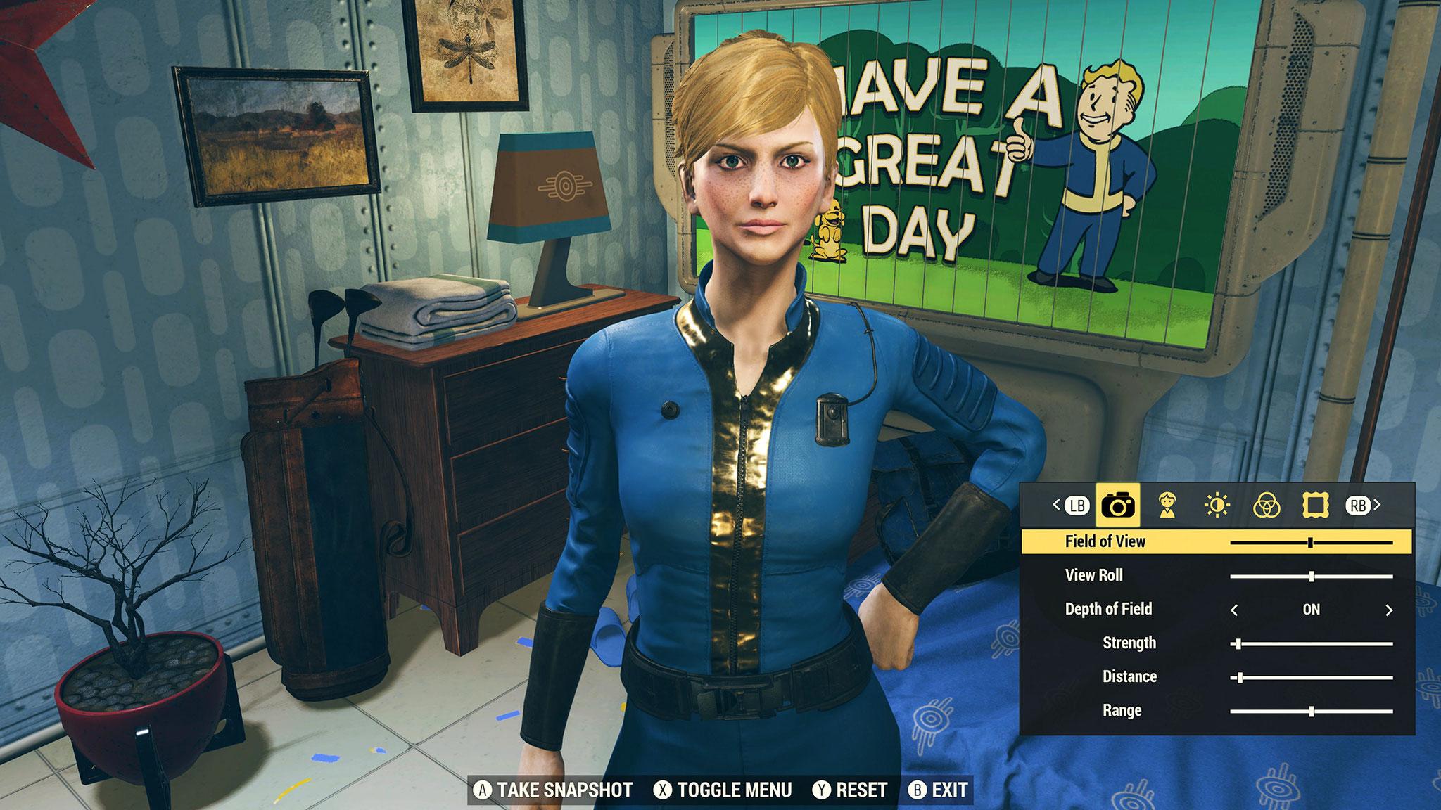 """""""Fallout""""-typisch entwirft man zu Spielbeginn mithilfe eines umfangreichen Charakter-Editors das eigene Alter Ego. Wer sich Mühe gibt, kann sein eigenes Ebenbild erschaffen oder sogar Promis rekonstruieren."""