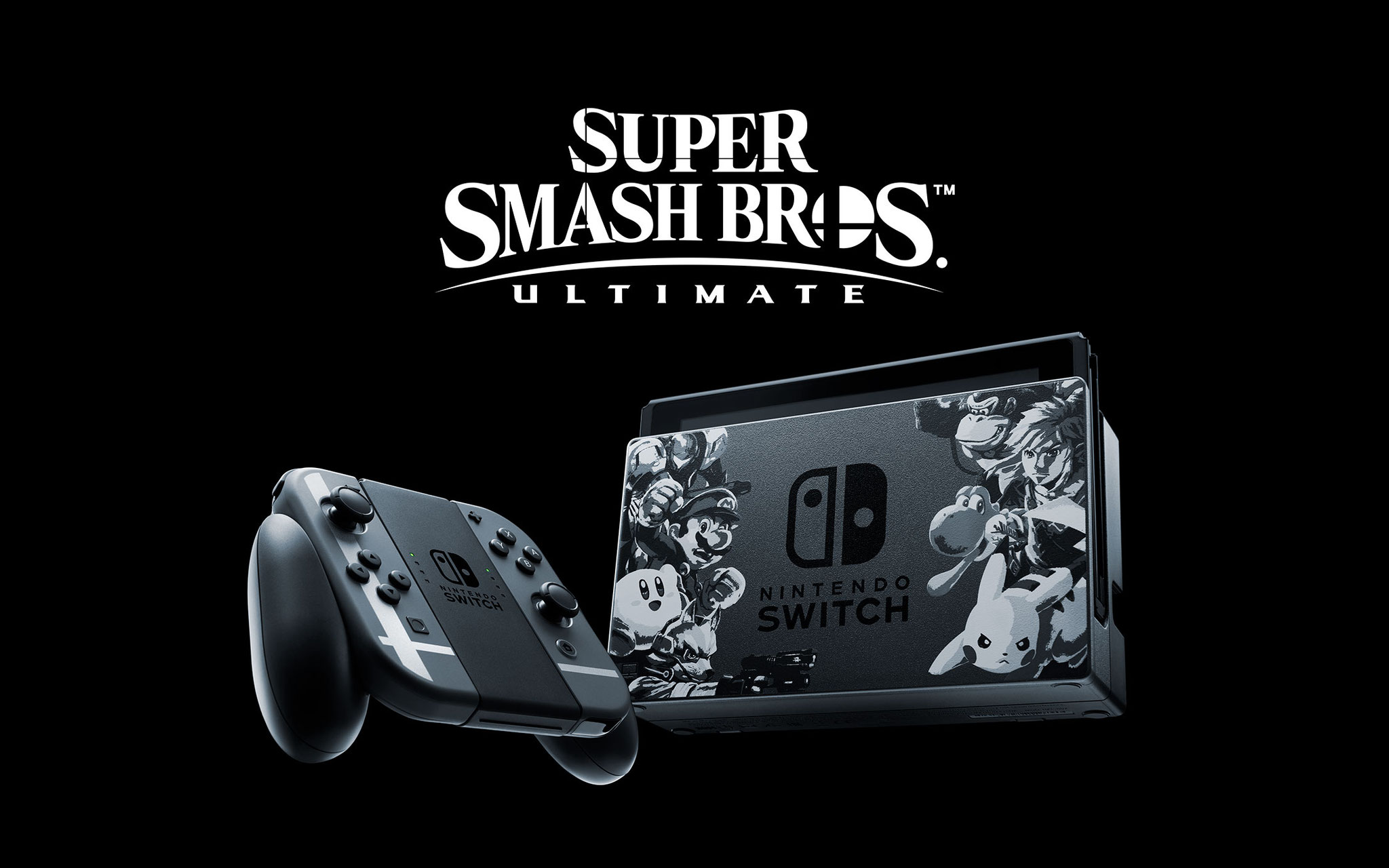 """Wird pünktlich zur Veröffentlichung von """"Super Smash Bros. Ultimate"""" am 7. Dezember erhältlich sein: eine Switch im passenden Look - Spiel inklusive."""