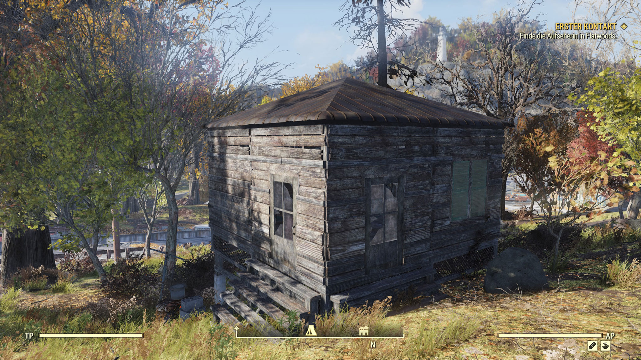 Noch sind wir bescheiden: Unser erstes kleines Eigenheim. Mithilfe des mobilen Campers können wir das Häuschen sogar verlegen.