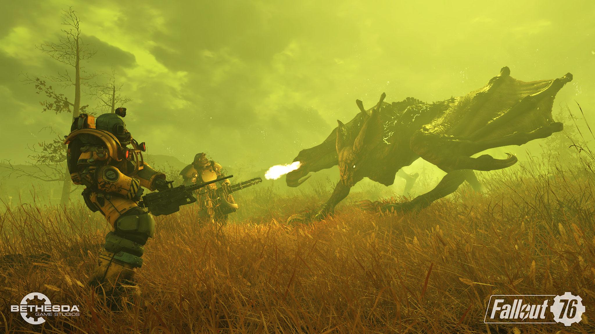 """Besonders gefährliche Bestien im """"Endgame"""" des MMOs mit Großkalibern und sogar Atomraketen beschossen."""