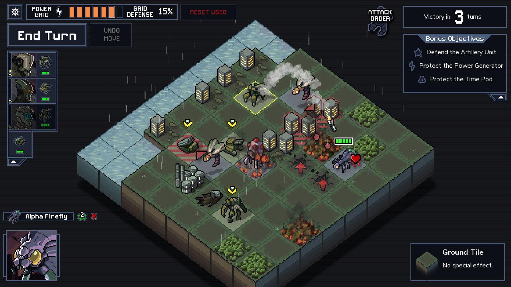 """Isometrische Indie-Taktik, die den Juroren den Preis für das """"beste Strategiespiel"""" wert war: """"Into the Breach"""" von Subset Games."""