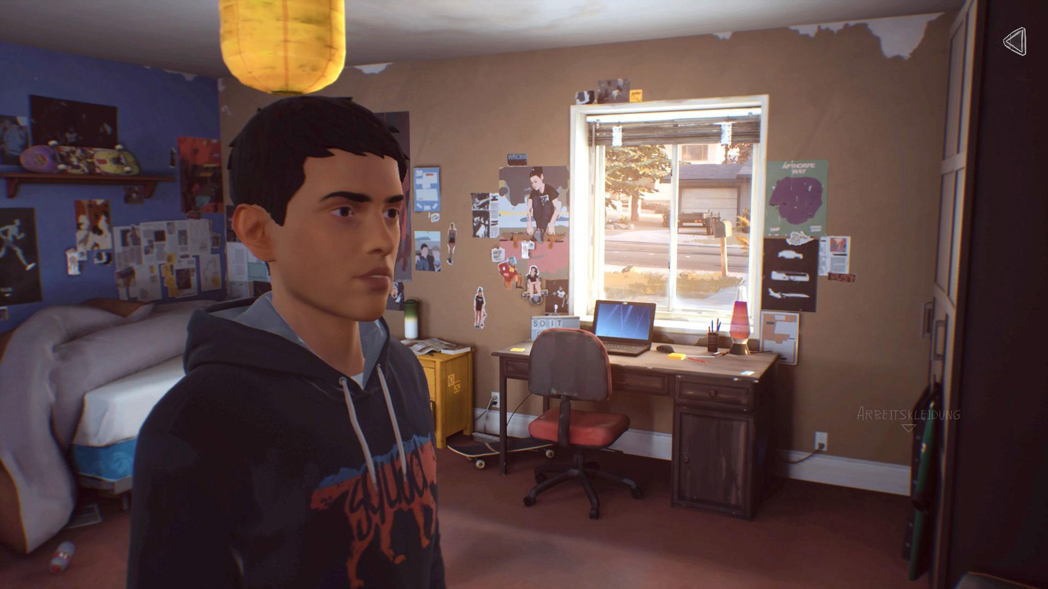 Typische Teenager-Bude: Seans Zimmer ist mit popkulturellen Artefakten der aktuellen Zeit vollgestopft. Wer ganz genau hinsieht, entdeckt aber außerdem jede Menge altmodischen Nerd-Kram.