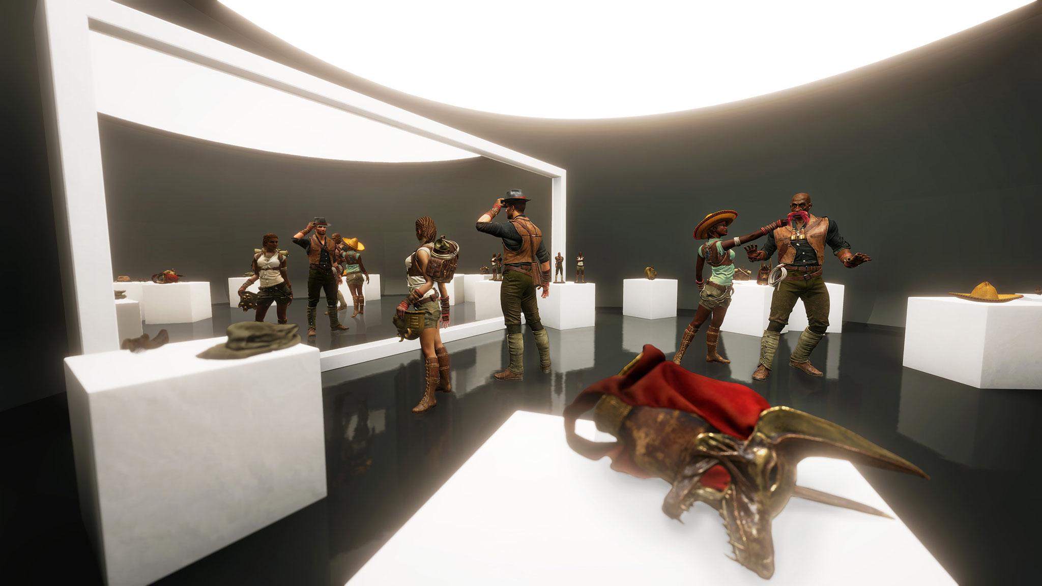 Im virtuellen Foyer der auf 60 Minuten ausgelegten Escape-Erfahrung wählen die Spieler ihren Avatar und dessen Outfit.