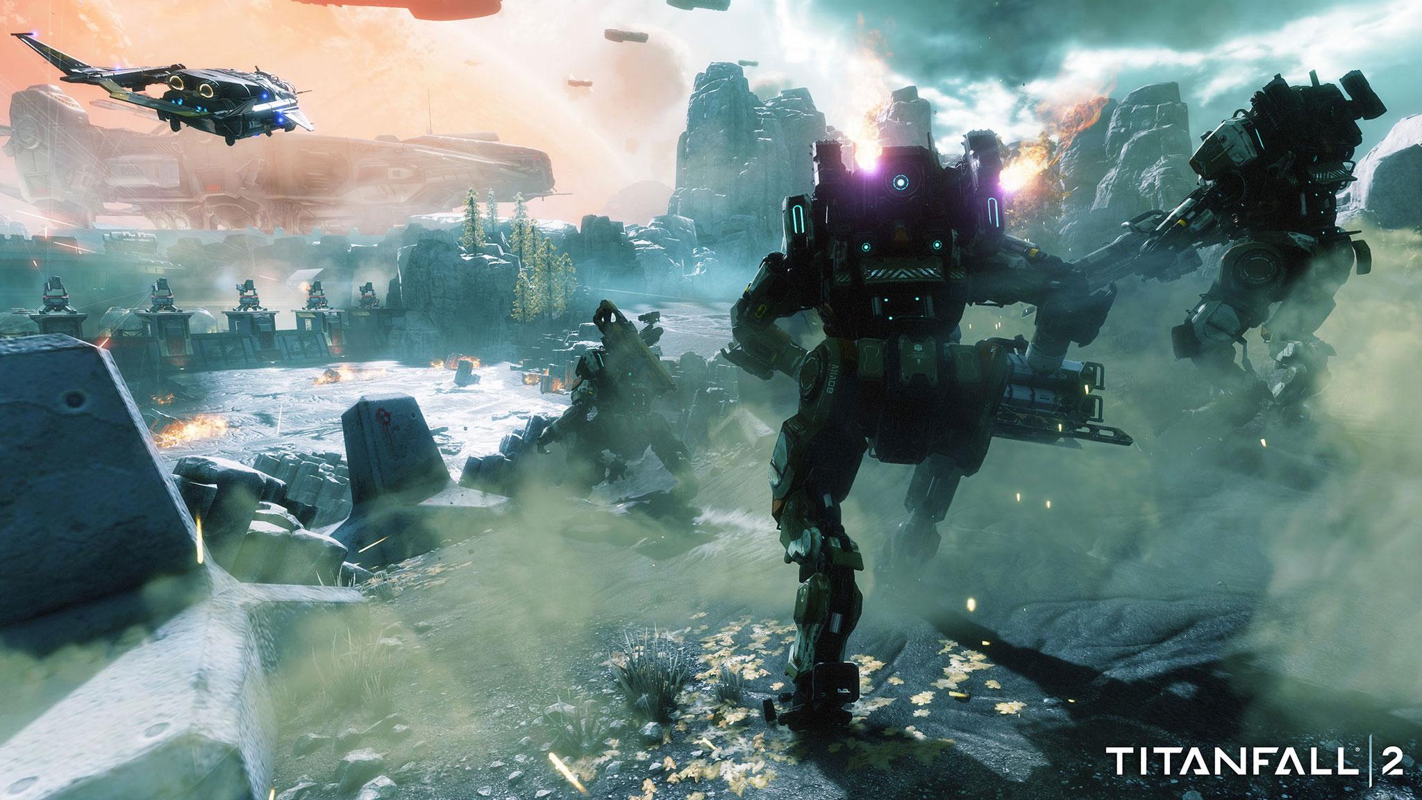"""Jetzt auch mit Story und Singleplayer-Kampagne: """"Titanfall 2"""" verfeinert nicht nur den Multiplayer-Modus – es führt vor allem Respawns interessantes Hintergrund-Universum aus. (28.10. für PS4, XBO, PC)"""