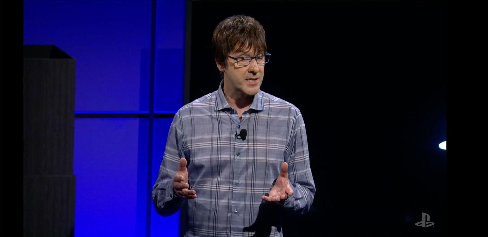 """Hat mit fast schon hypnotischer Stimme durch die erste Vorführung der """"Pro"""" geführt: PS4-Architekt Mark Cerny."""
