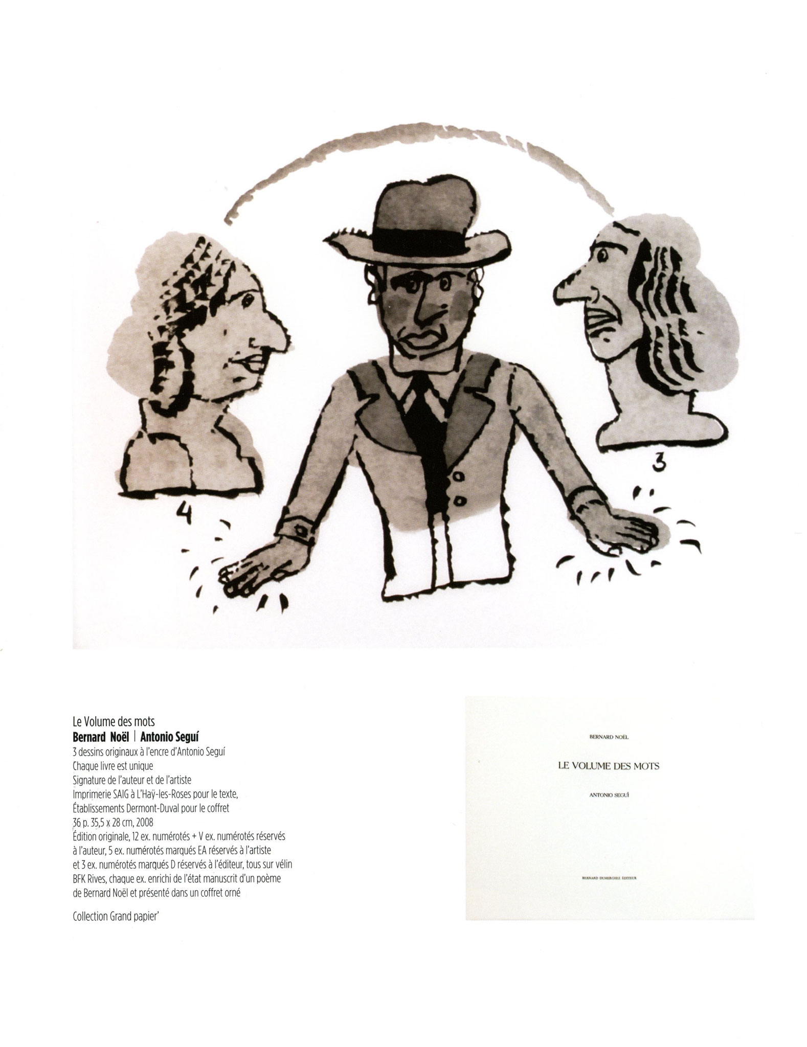 Le Volume des mots - Bernard Noël / Antonio Seguí
