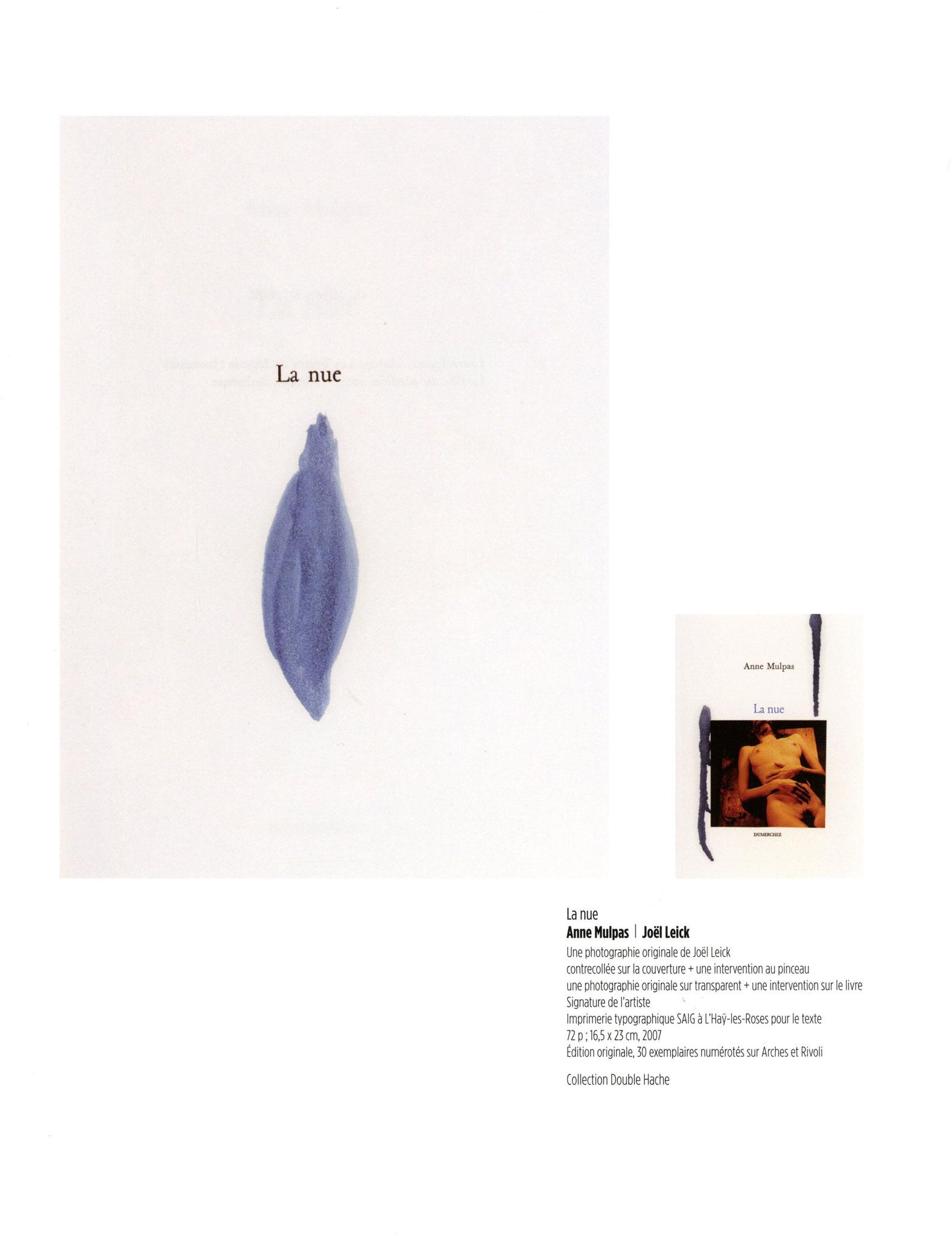 La nue - Anne Mulpas / Joël Leick