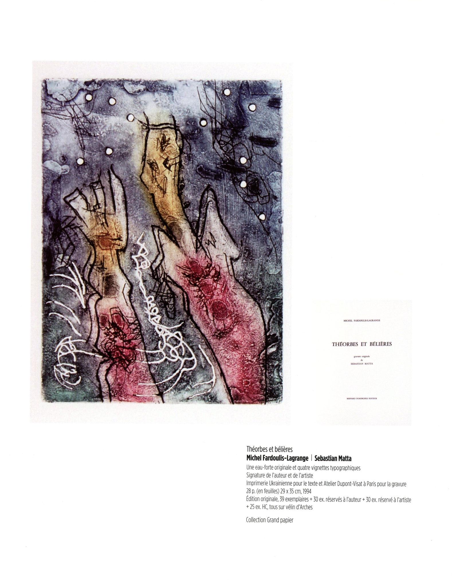 Théorbes et bélières - Michel Fardoulis-Lagrange / Sebastian Matta
