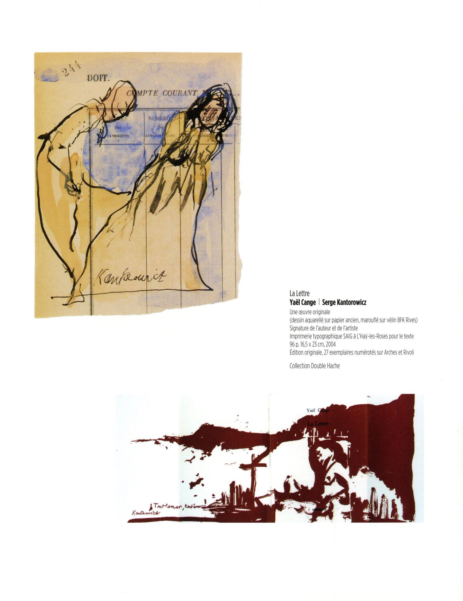 La Lettre - Yaël Cange / Serge Kantorowicz