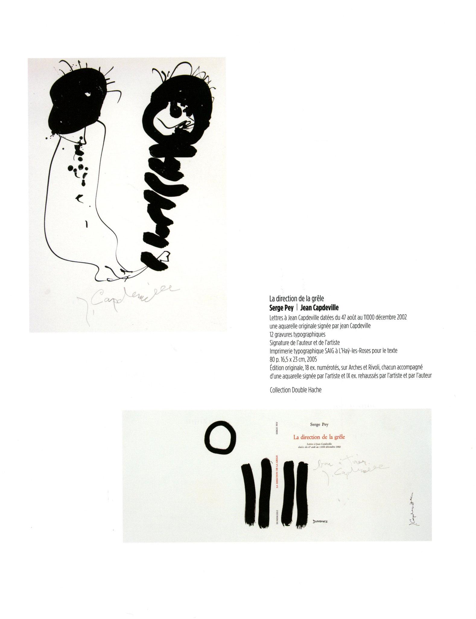 La direction de la grêle - Serge Pey / Jan Capdeville